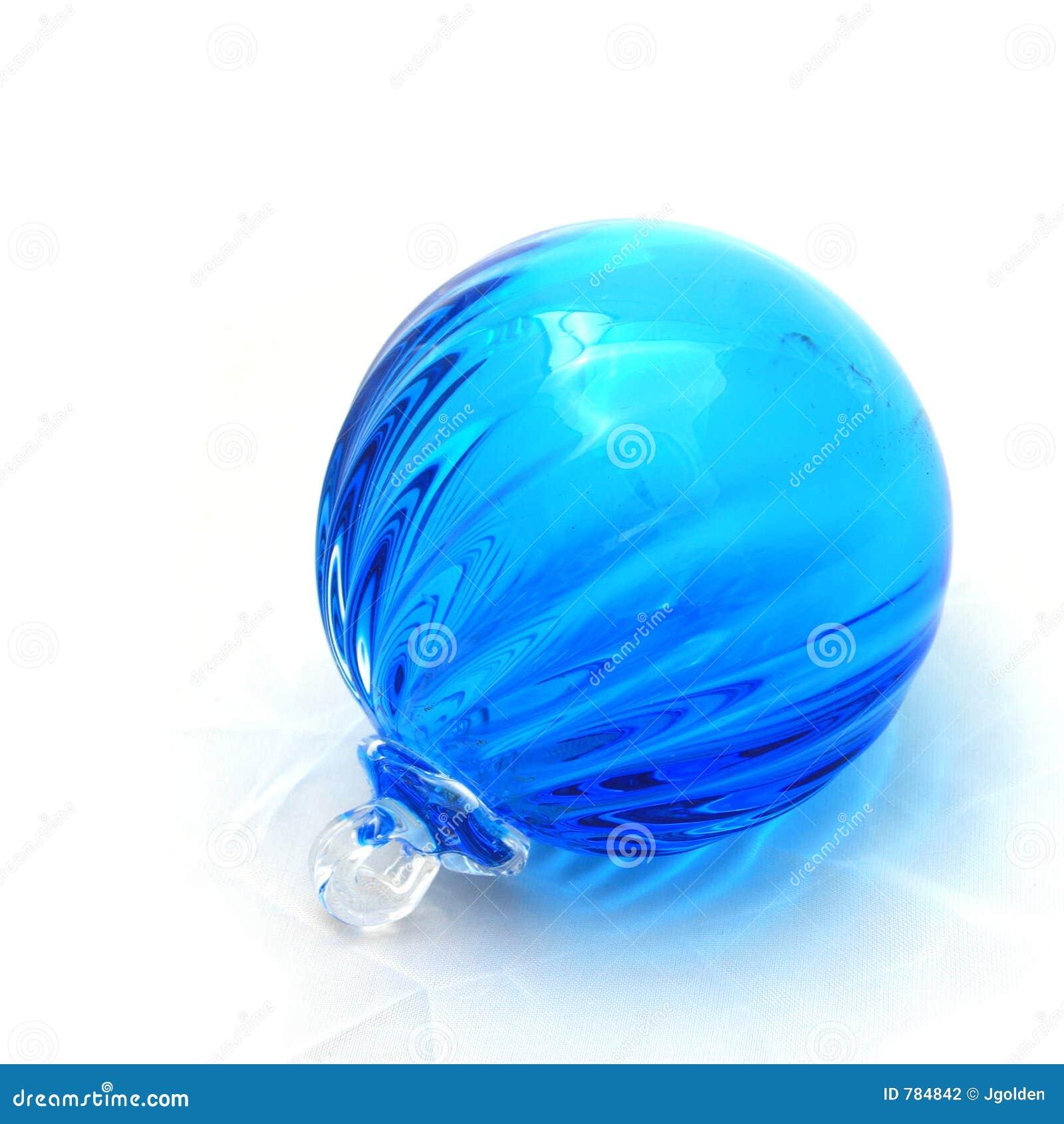 blue glass ball stock photography