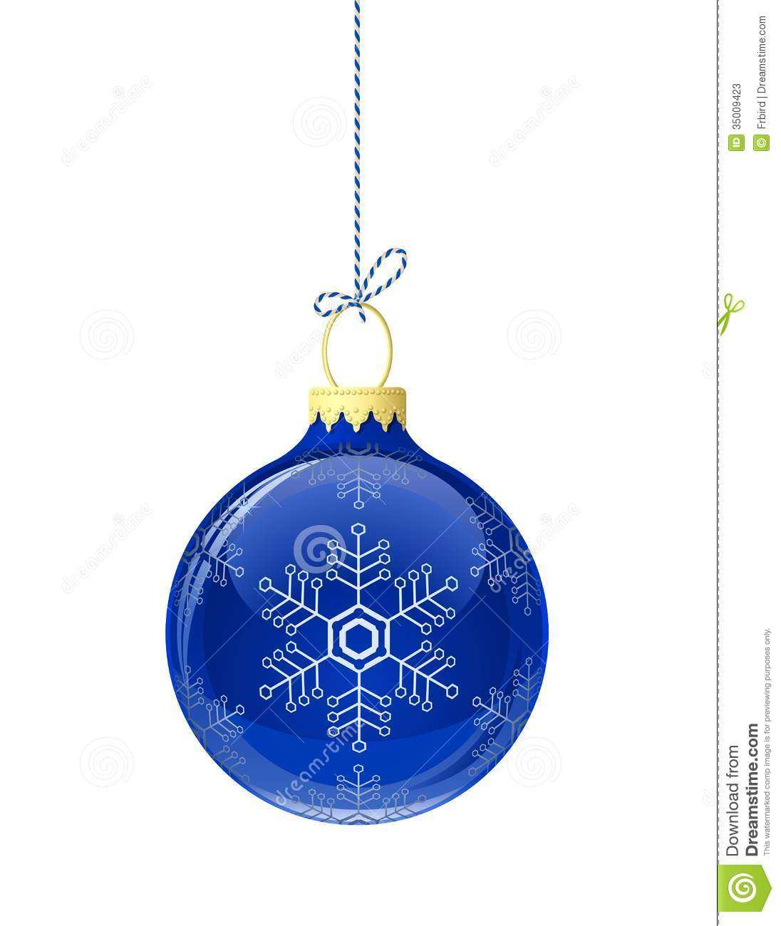 Blue glass christmas ball stock vector image of tree