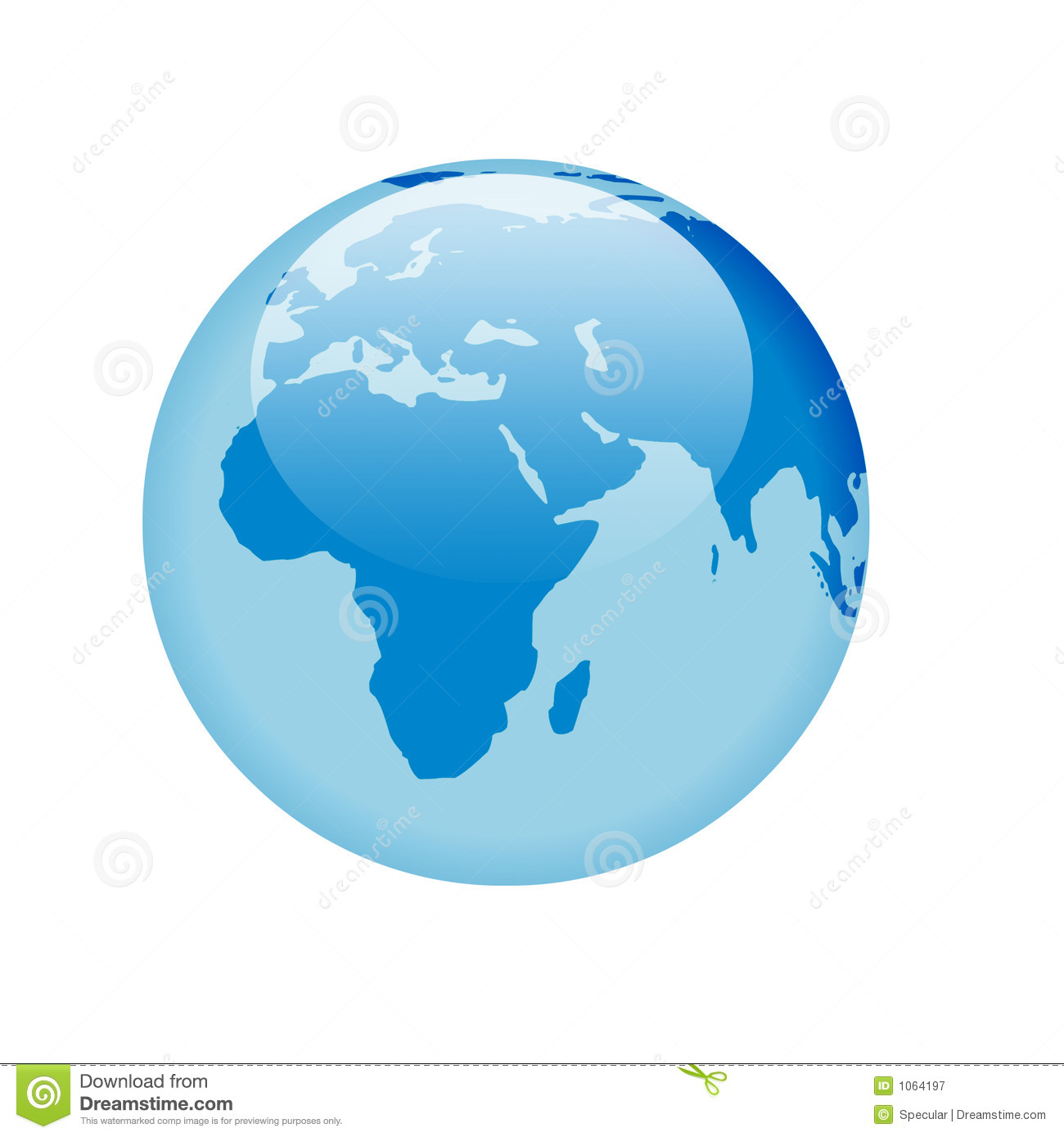 Blue Glass Globe Royalty Free Stock Photography Image