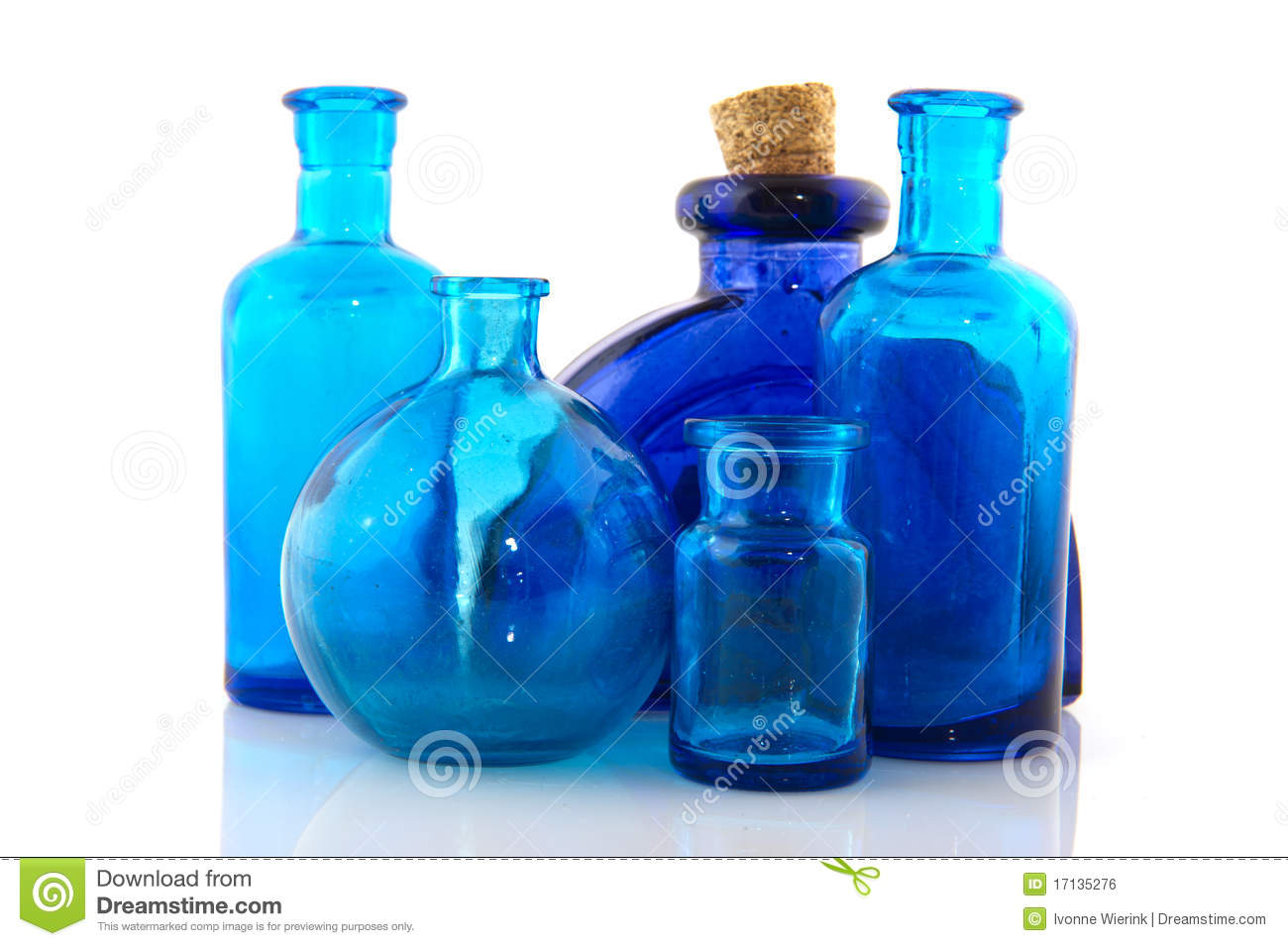 Blue Glass Objects Royalty Free Stock Image - Image: 17135276