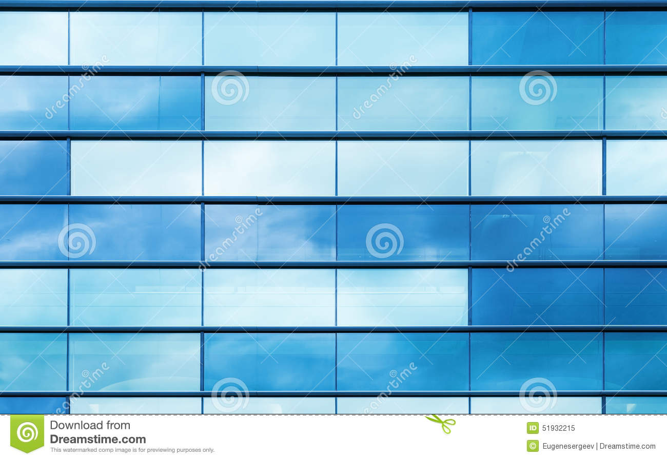 Blue Glass And Steel Frame Background Texture Stock Image