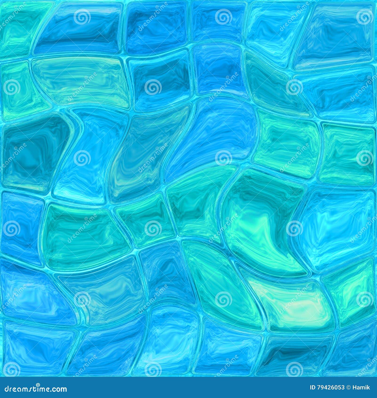 Blue Glass Tiles Stock Photo Image 79426053
