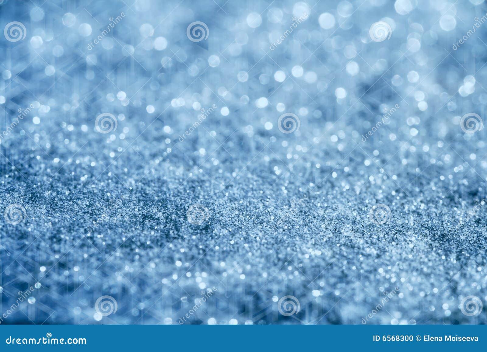 Blue Glitter Sparkles Background With Star Light Stock