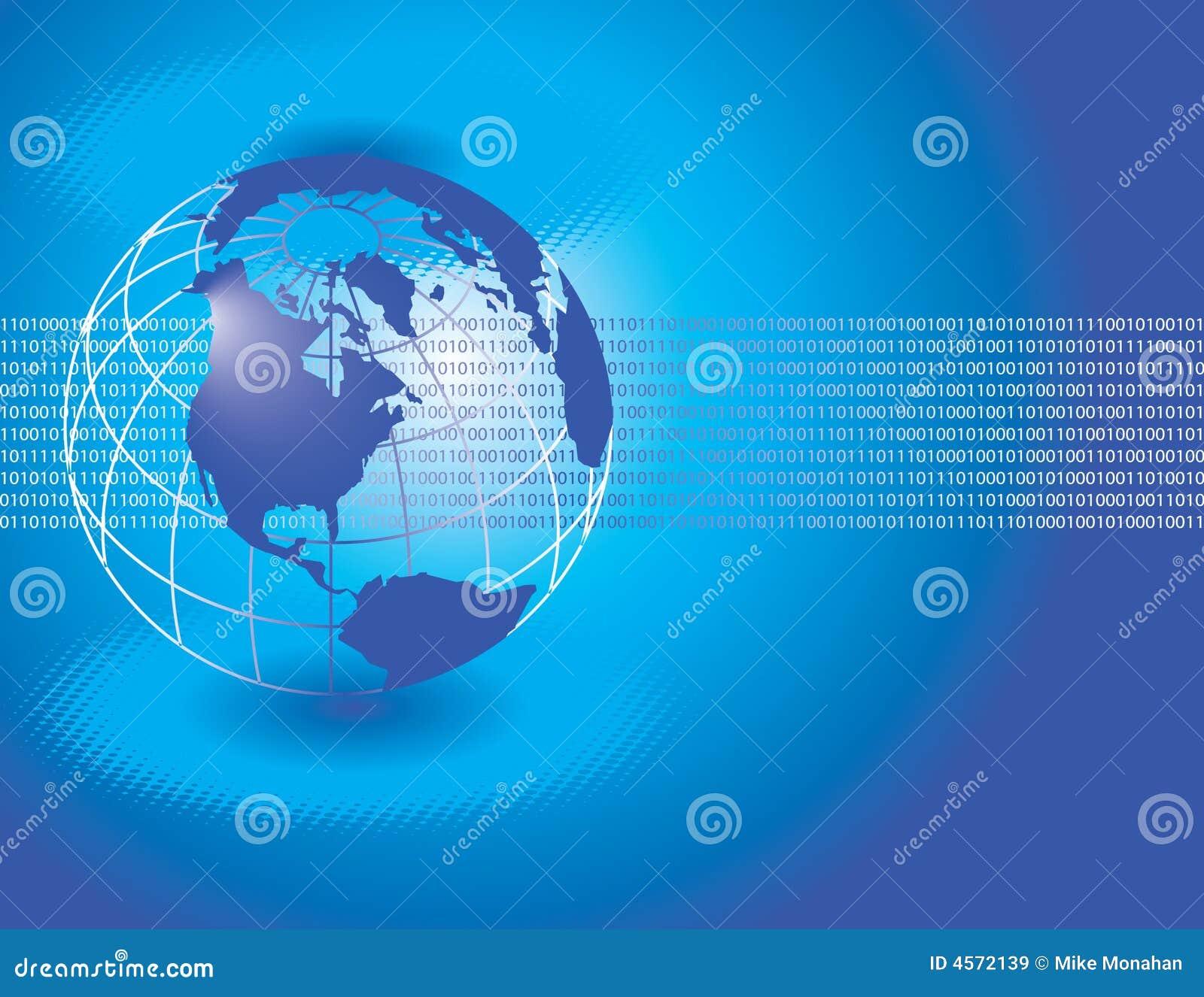 Blue Globe Background Royalty Free Stock Images Image