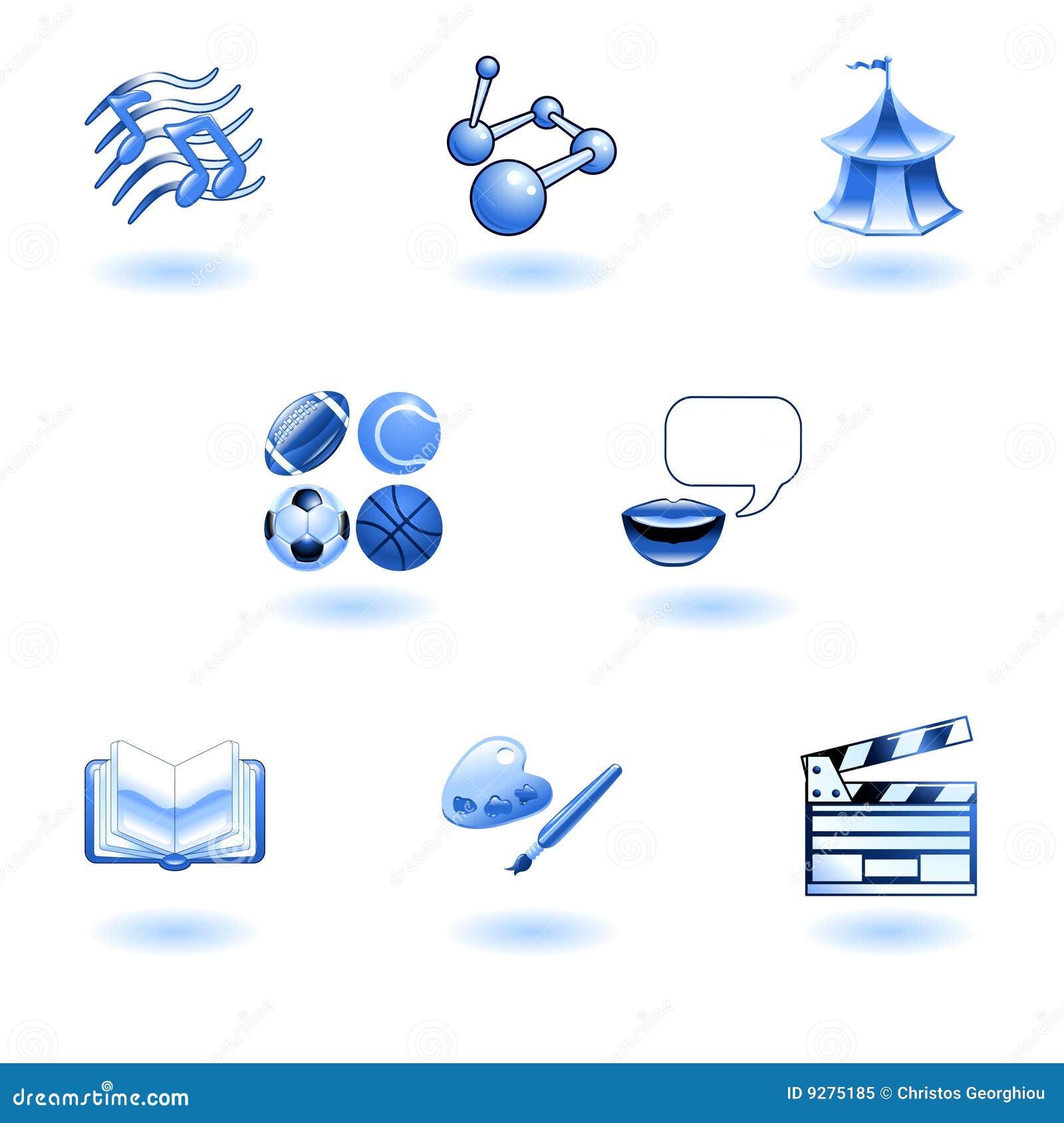 Category/education - Blue Glossy Category Education Web Icons