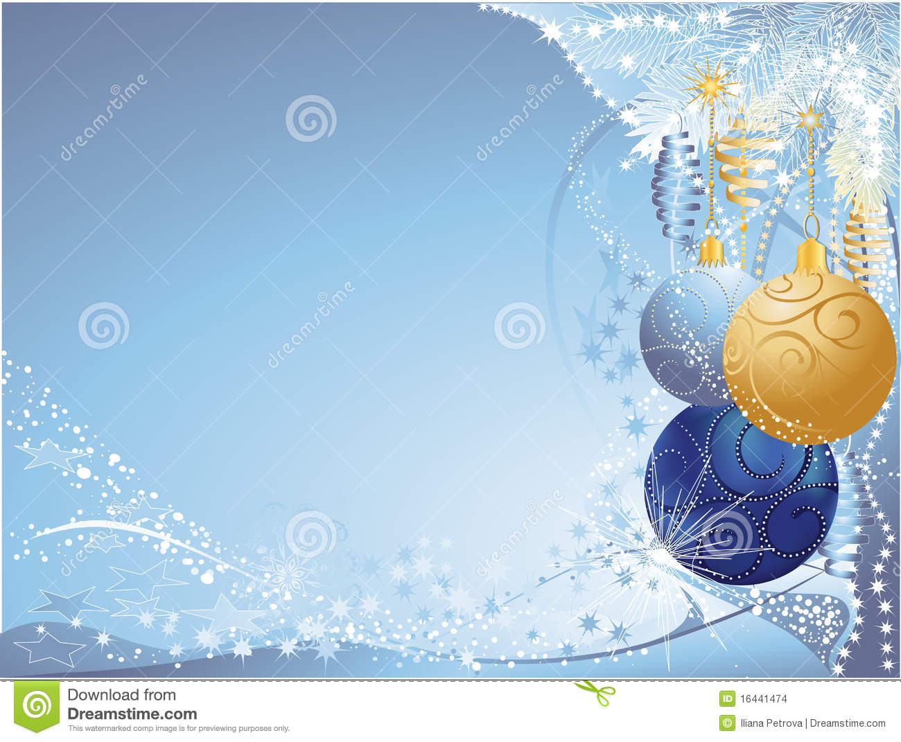 Blue and gold christmas stock images image 16441474 for Blue and gold christmas