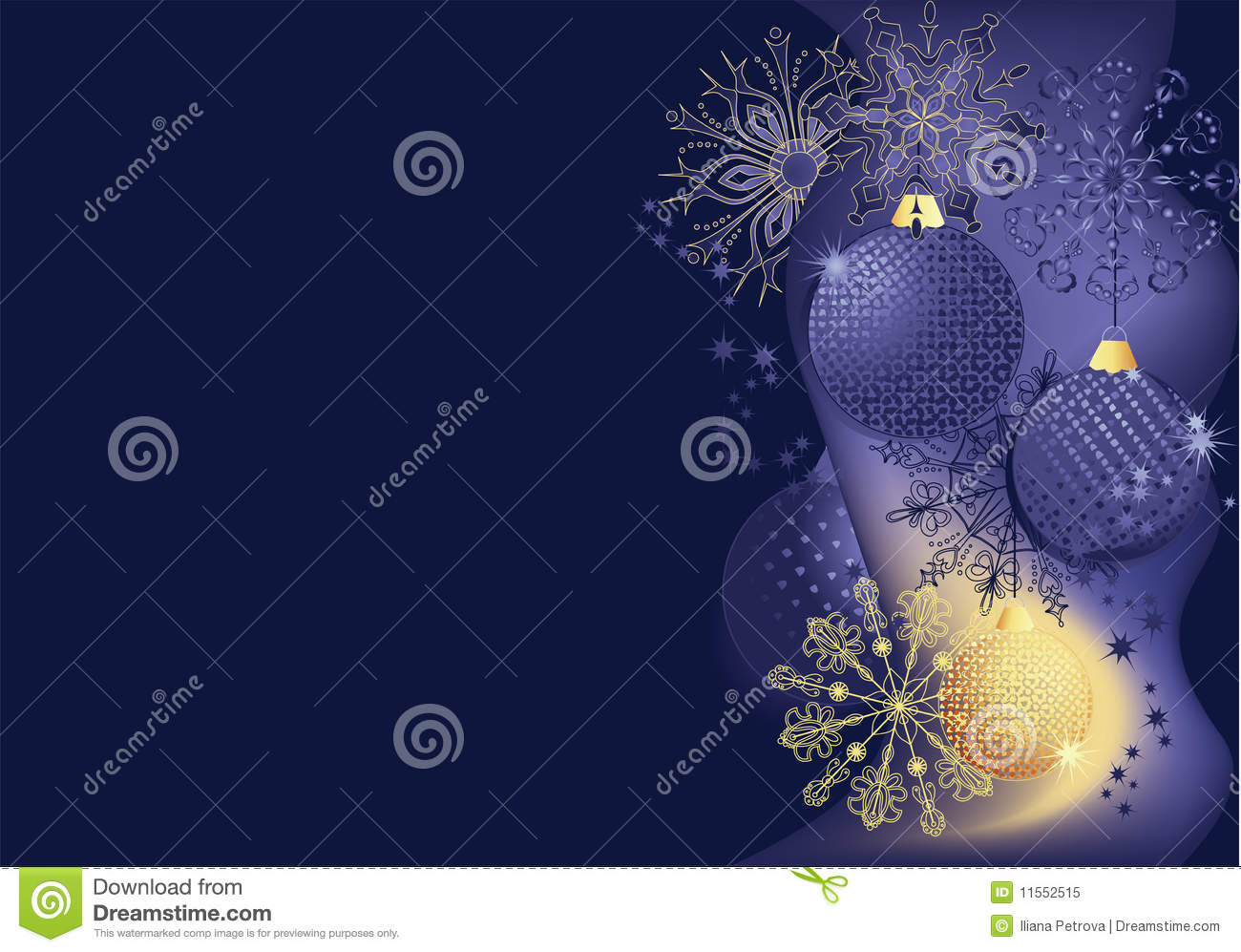 Blue and gold christmas background stock vector image for Blue and gold christmas