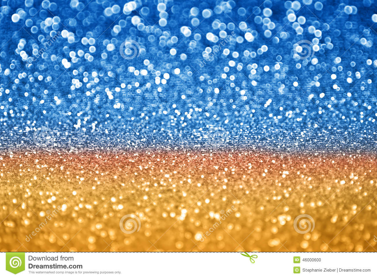 Blue Gold Glitter Stock Photo Image Of Ornament Copy 46000600