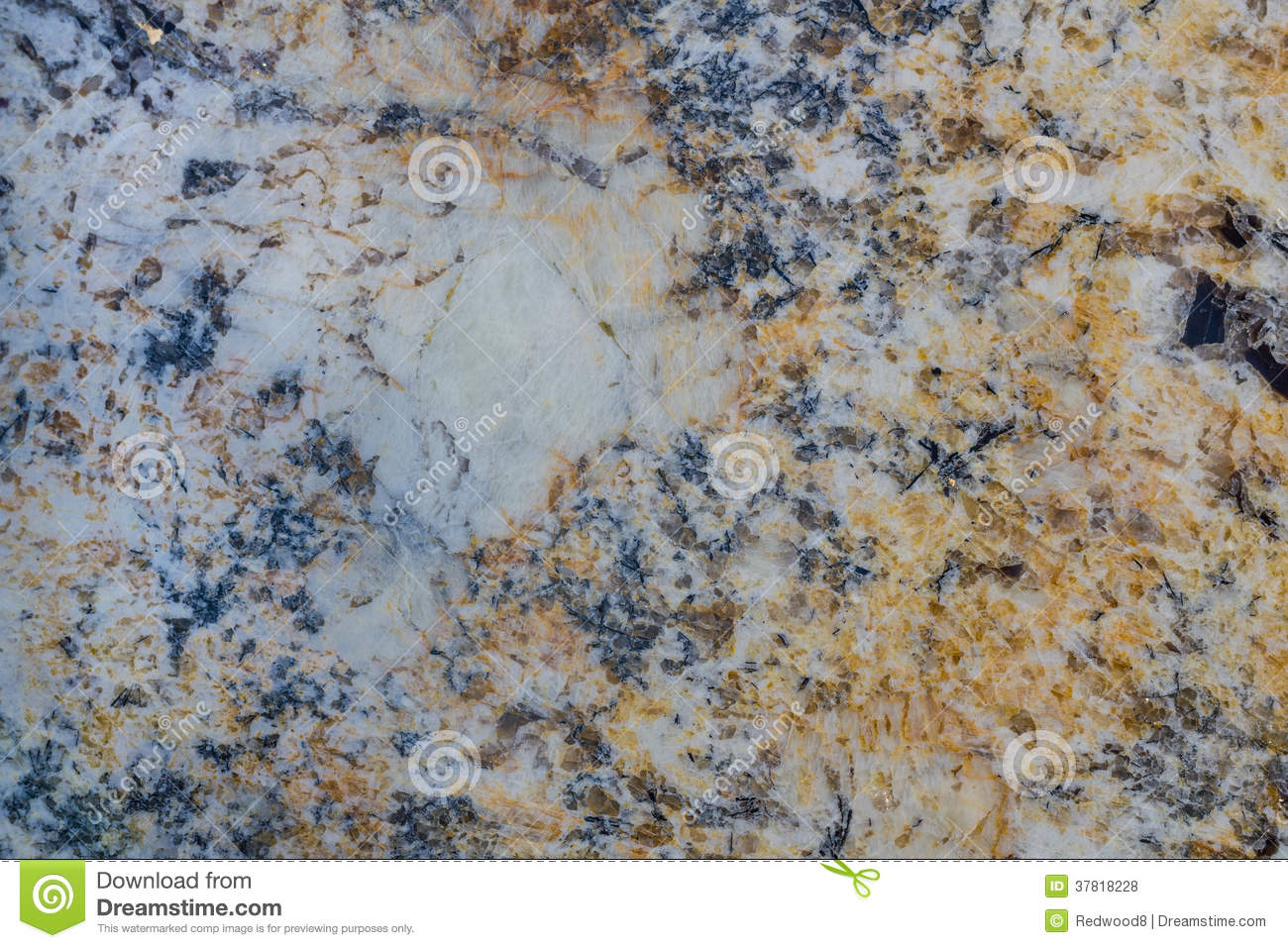 Blue And White Marble : Blue gold and white granite stock photo image