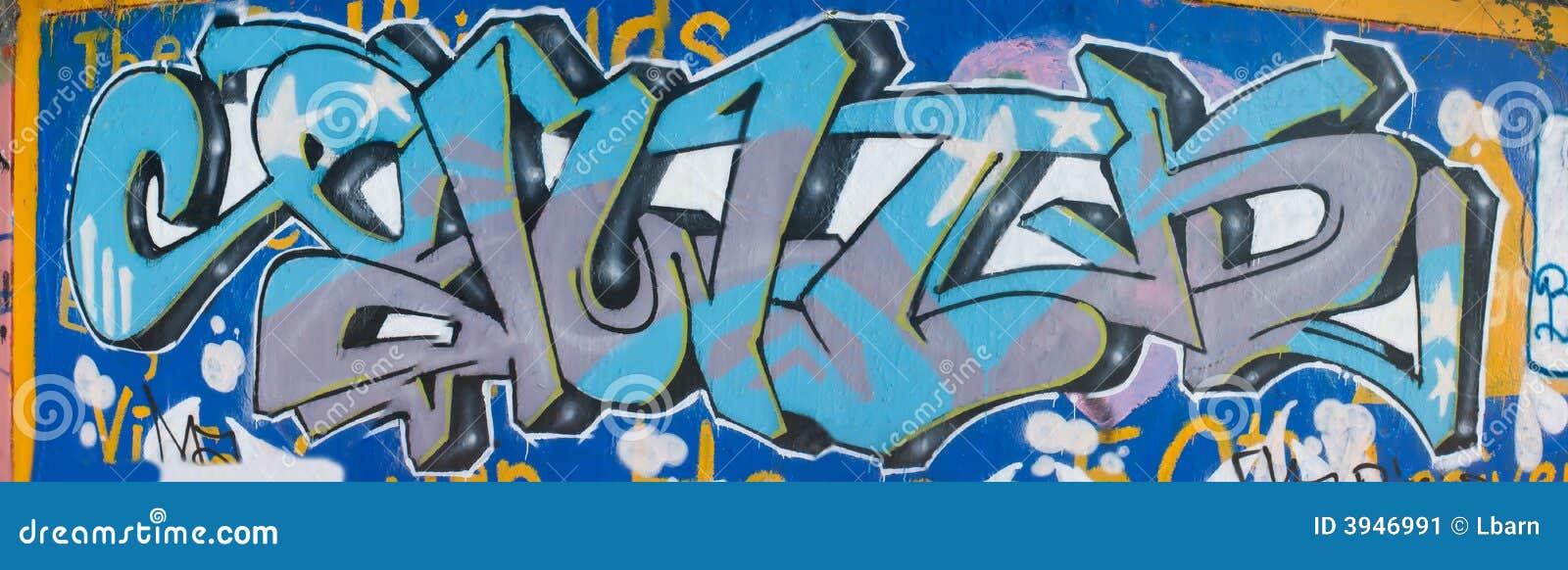 Blue Graffiti Mural Stock Image Image Of Color Grunge 3946991