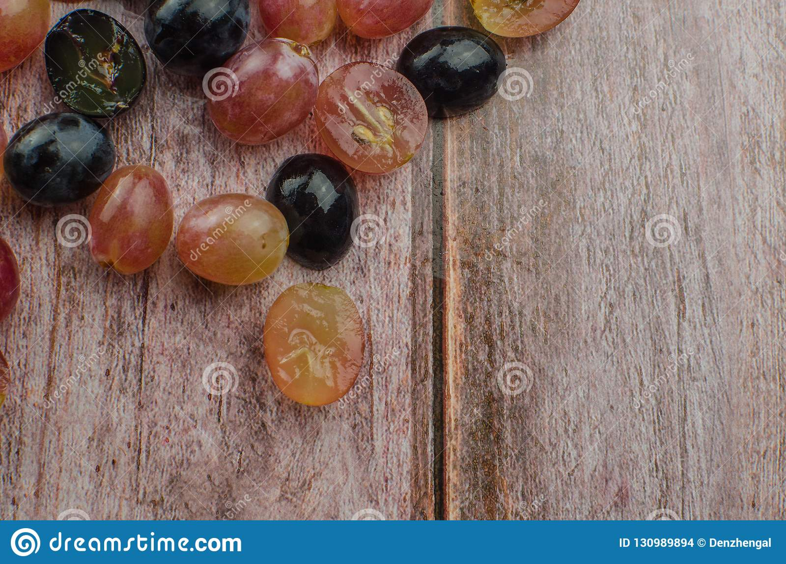 Blue grapes with green leaf healthy eating, isolated