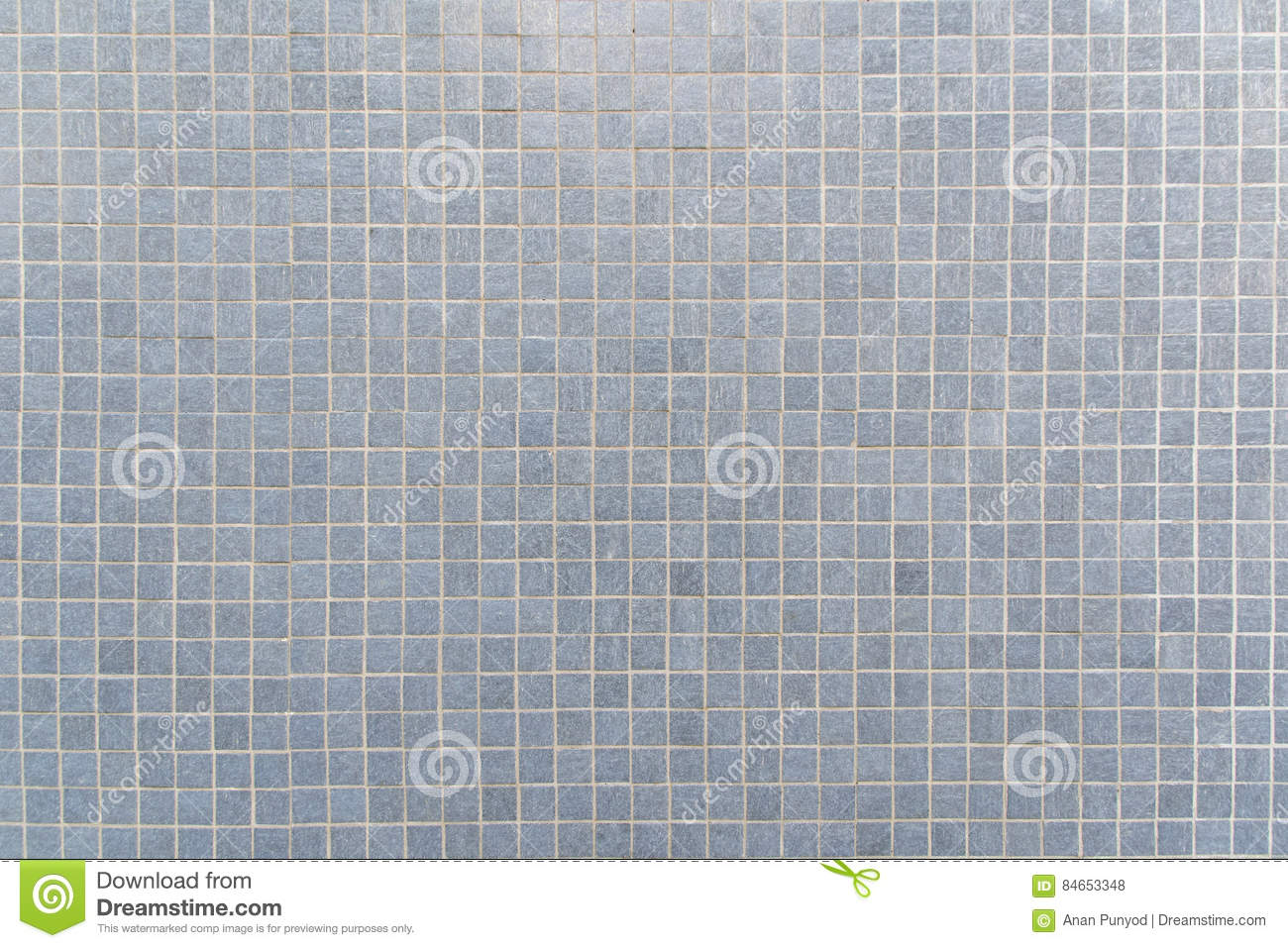 Blue Gray Mosaic Floor Tile For Texture Background Stock ...