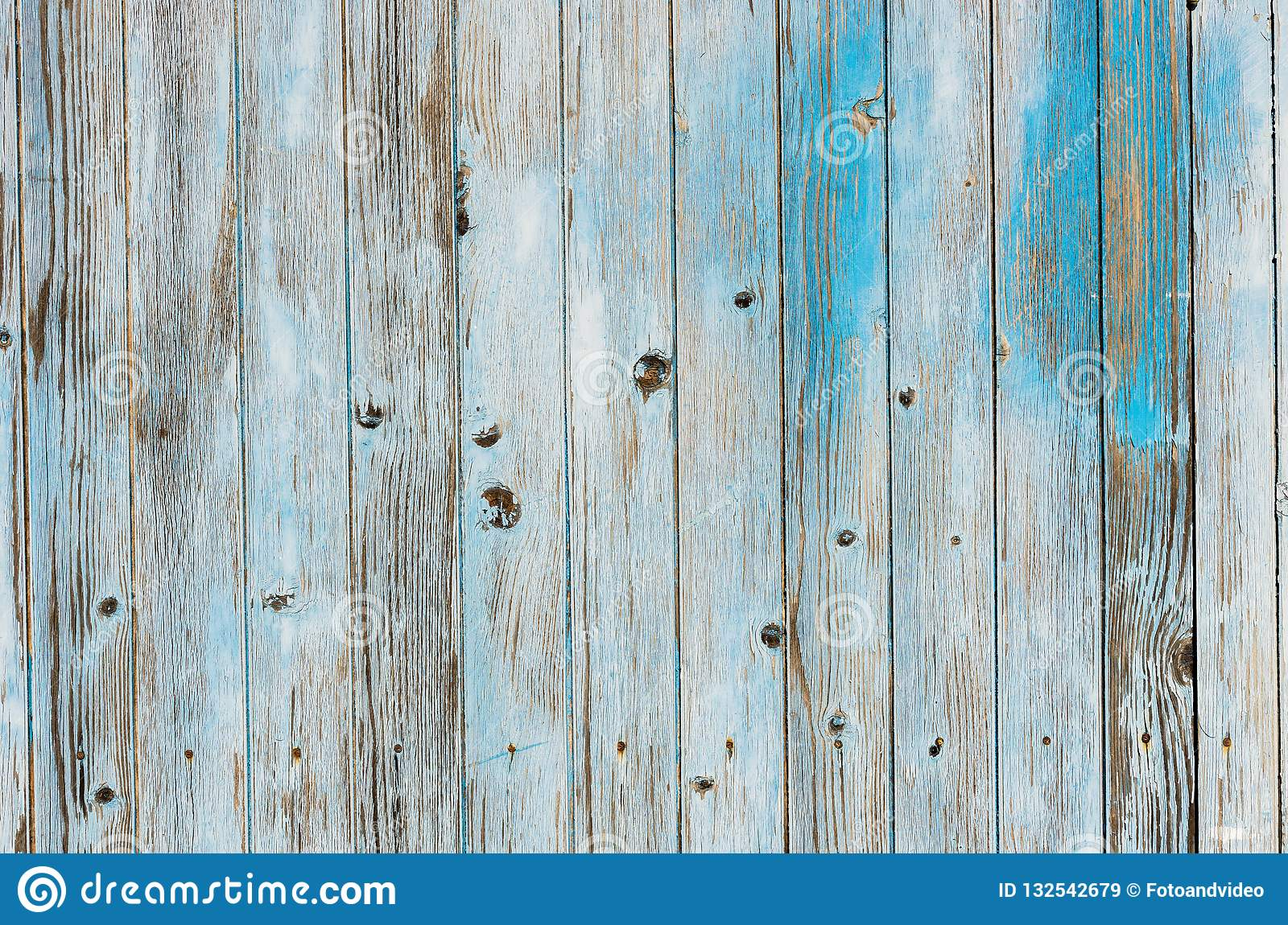 Blue Gray Old Painted Wood Planks Background Texture Stock