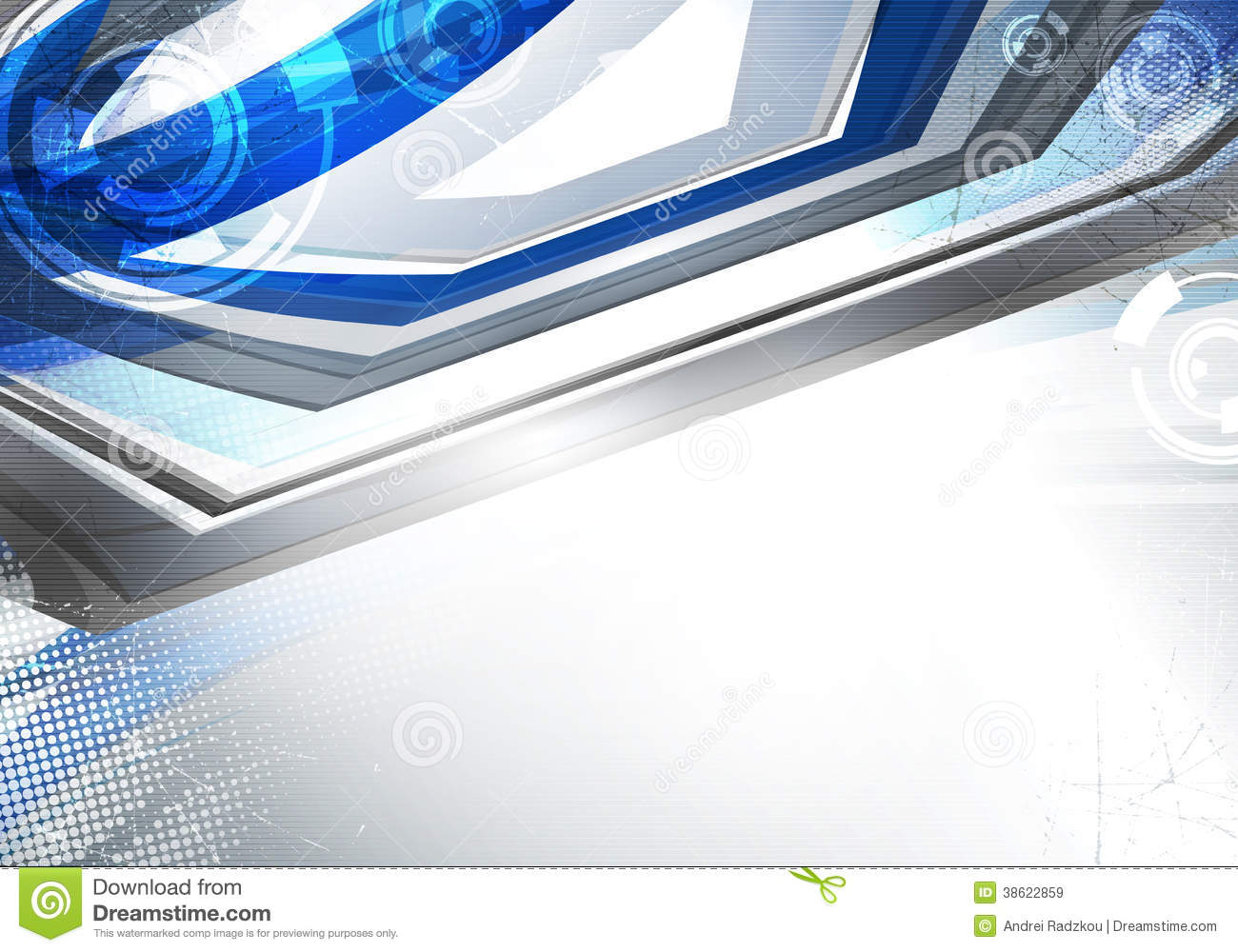 Blue And Gray Techno Background Stock Vector - Image: 38622859