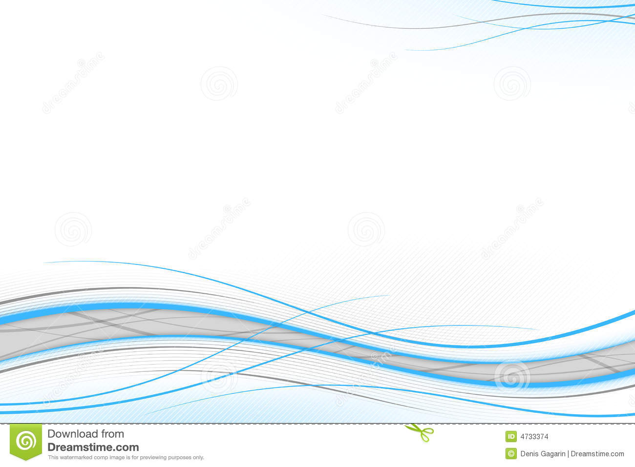 Blue And Gray Waves Stock Illustration Illustration Of