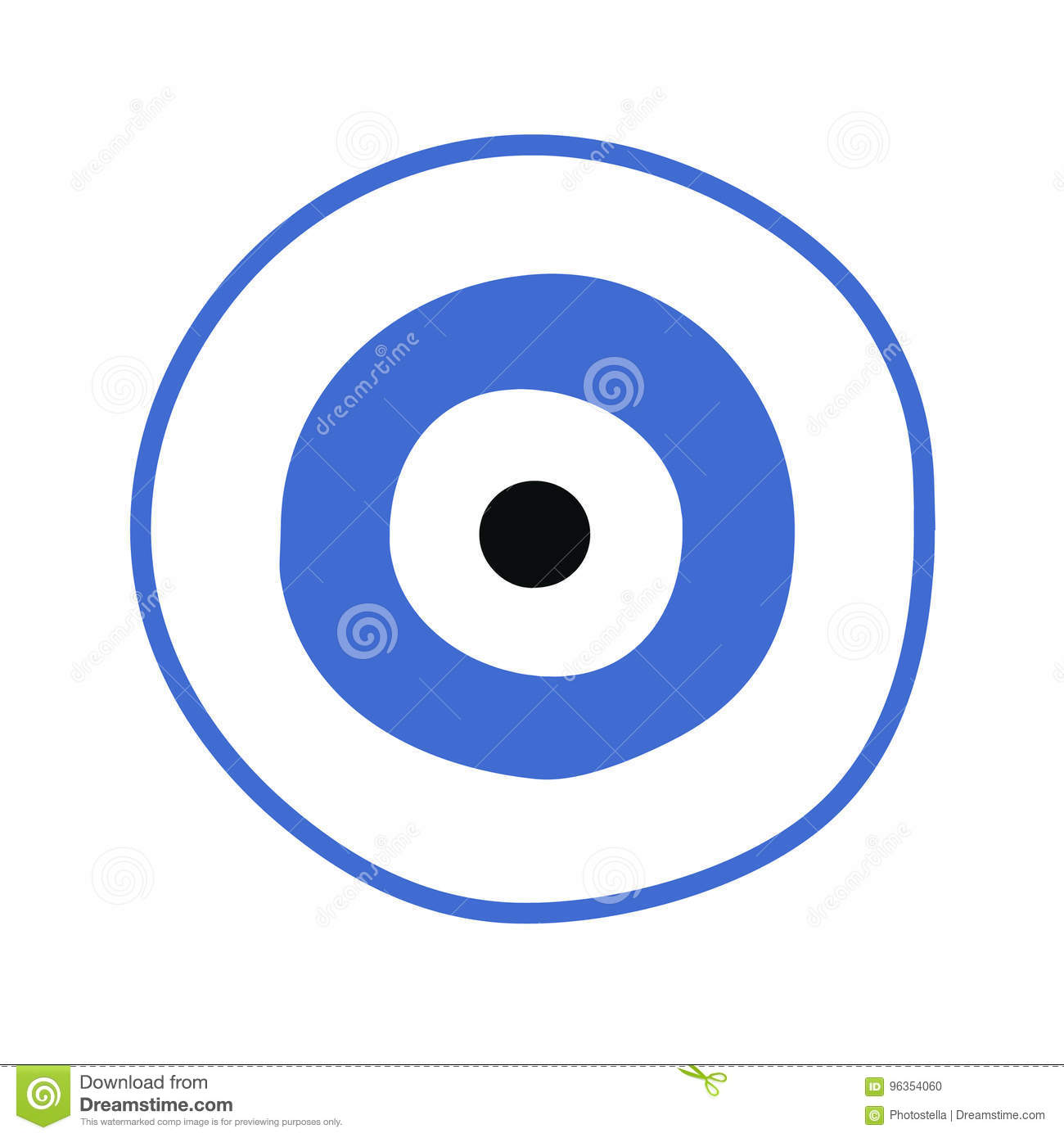 Blue Greek Evil Eye Vector Symbol Of Protection Stock Vector
