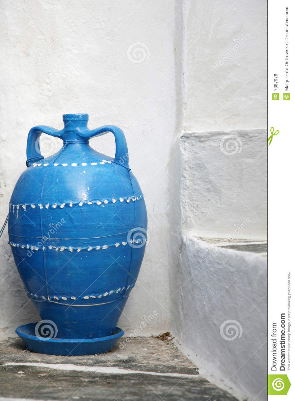 blue greek vase stock photo image of wall exterior. Black Bedroom Furniture Sets. Home Design Ideas