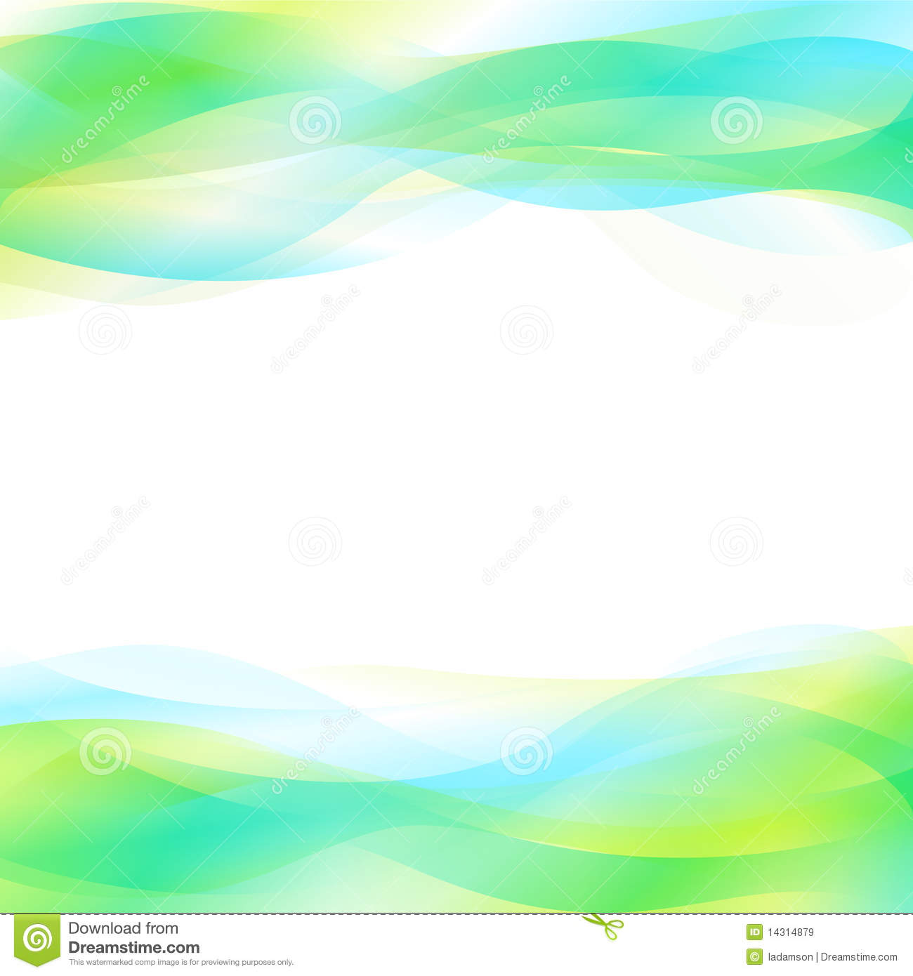 Blue And Green Abstract Background. Vector Royalty Free
