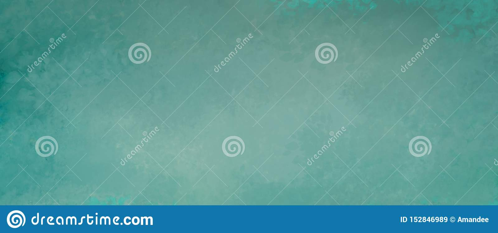 Blue green background with mottled old grunge and distressed vintage texture design in abstract blank banner design