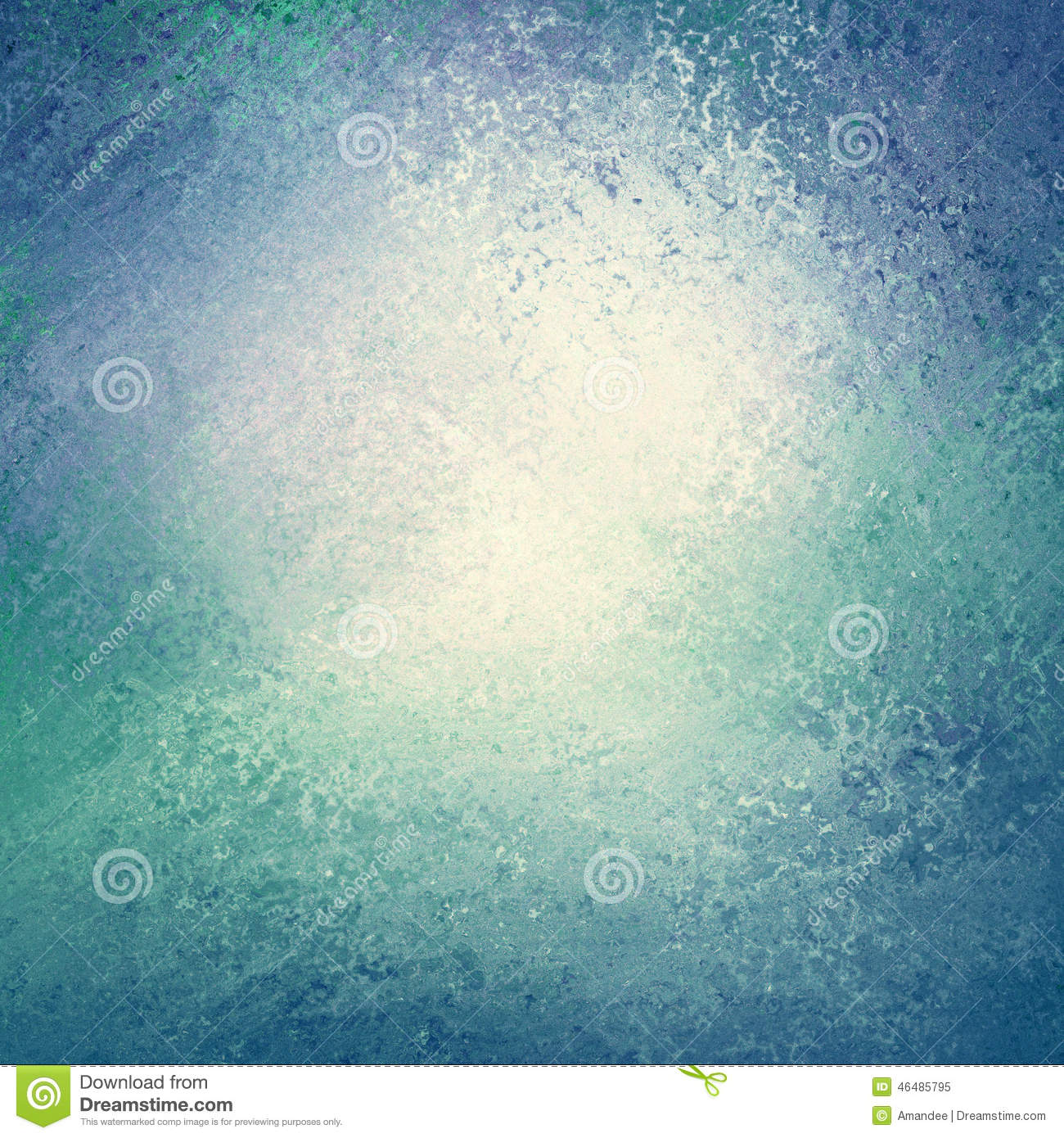 Blue Green And Grey Living Room: Blue And Green Background With White Center And Sponged