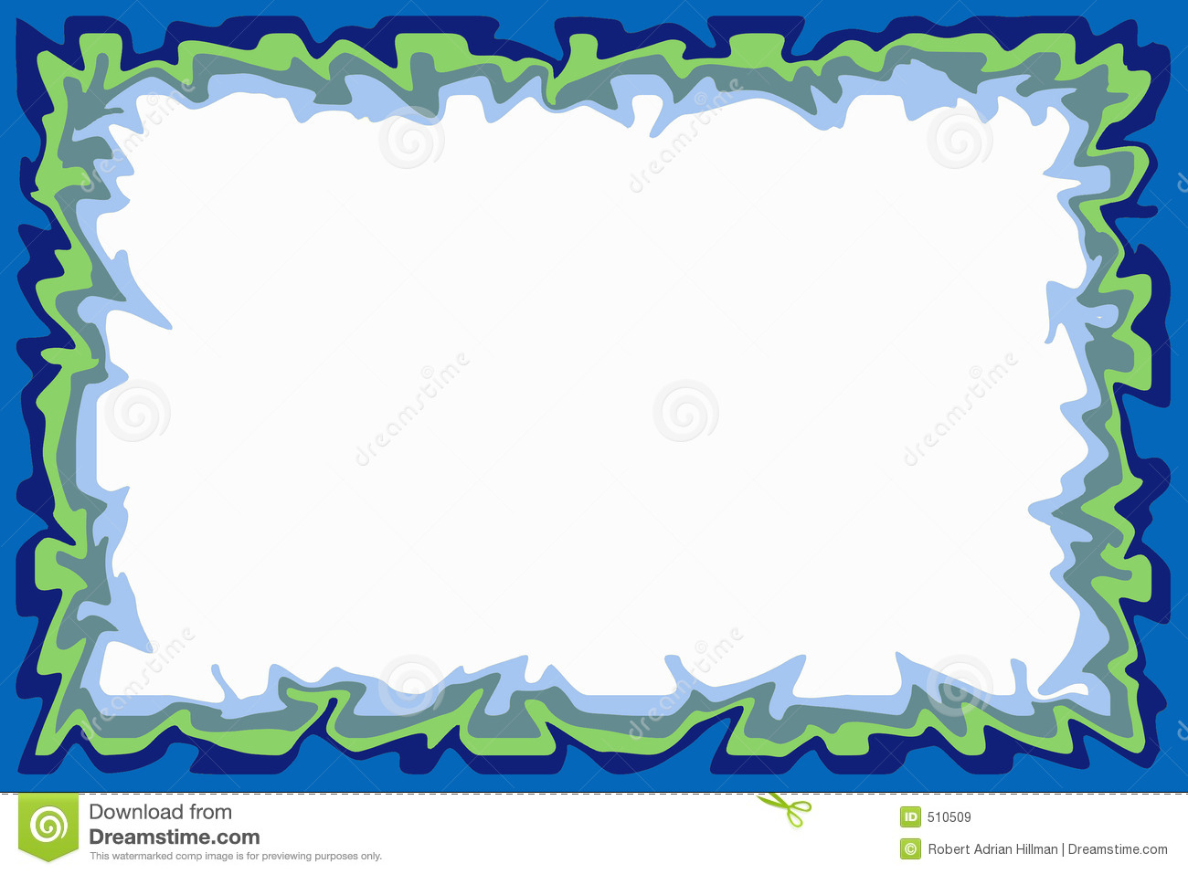 blue green border