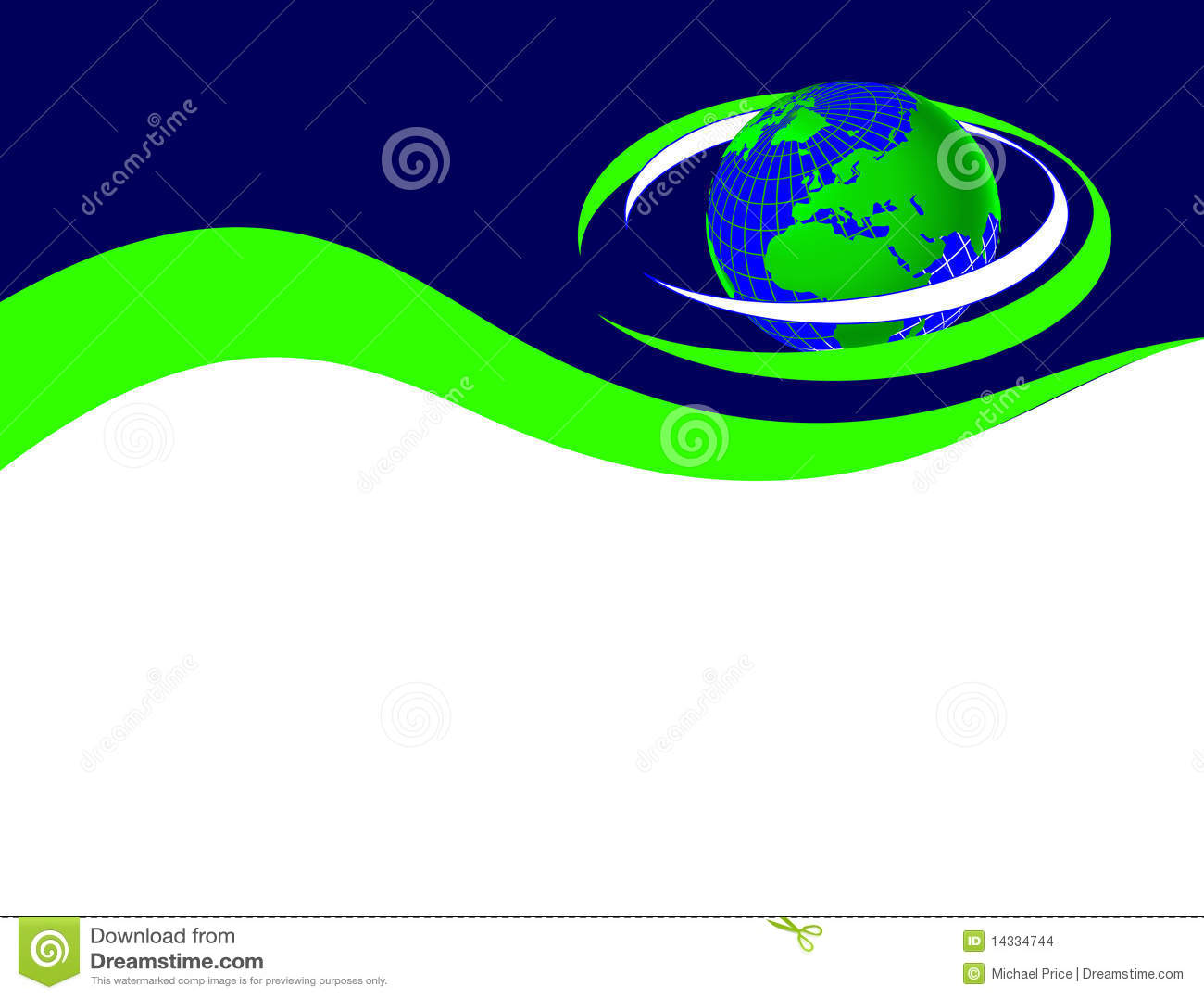 blue and green business card template stock images