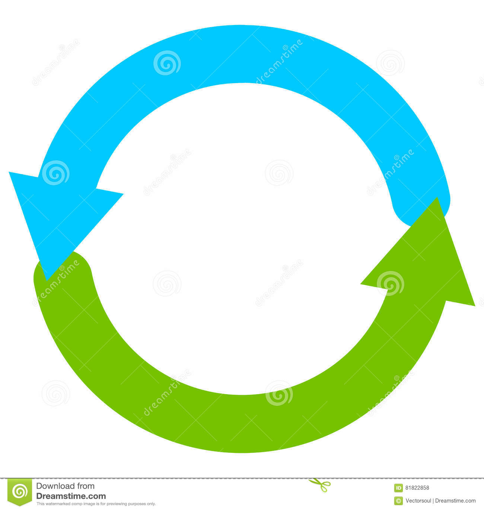 Blue And Green Circular Arrow Symbol / Icon Stock Vector