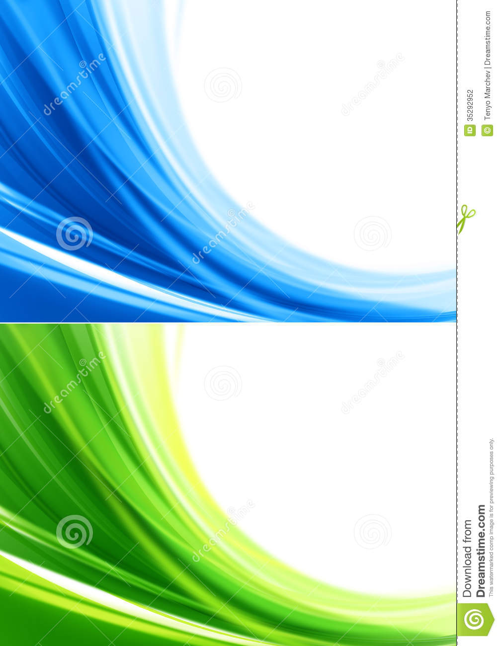 Blue and green color backgrounds