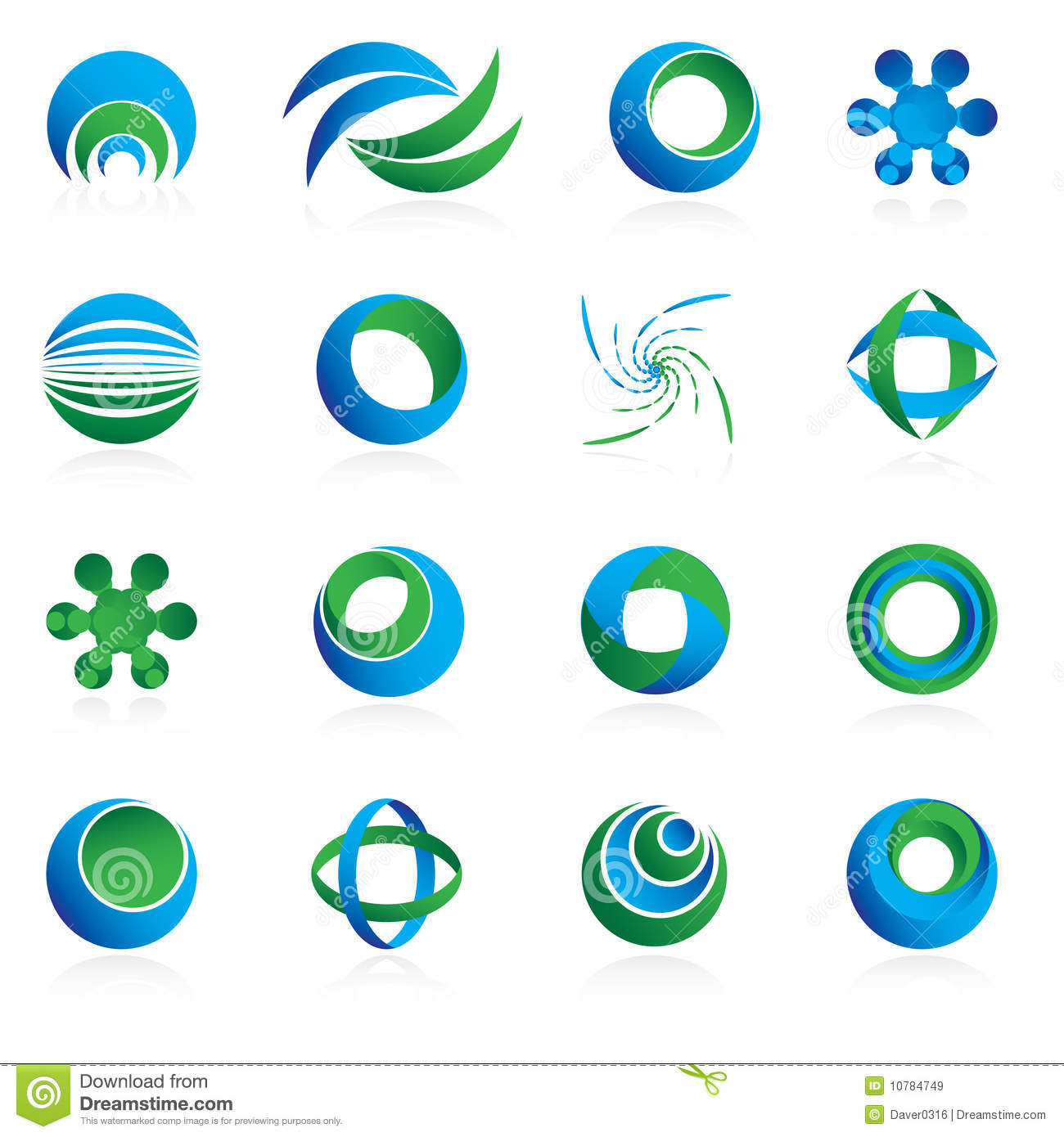 Blue And Green Design Elements Royalty Free Stock Images