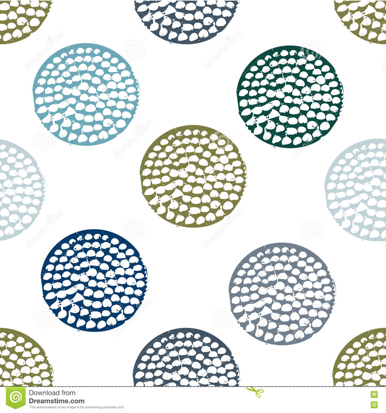 Download Grunge Polka Dots Digital Paper Image