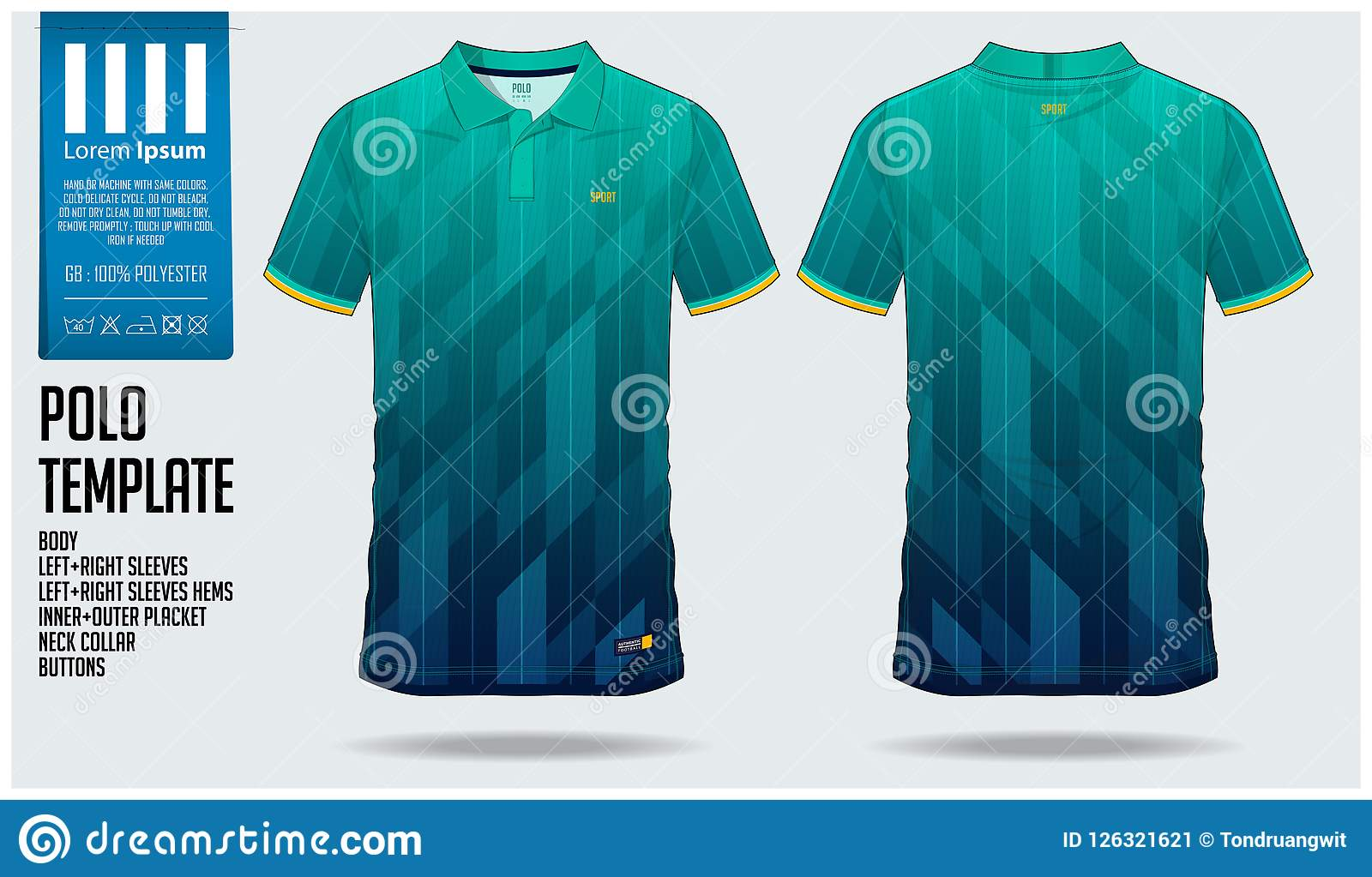 493903c62 Polo t shirt sport design template for soccer jersey, football kit or sport  club.