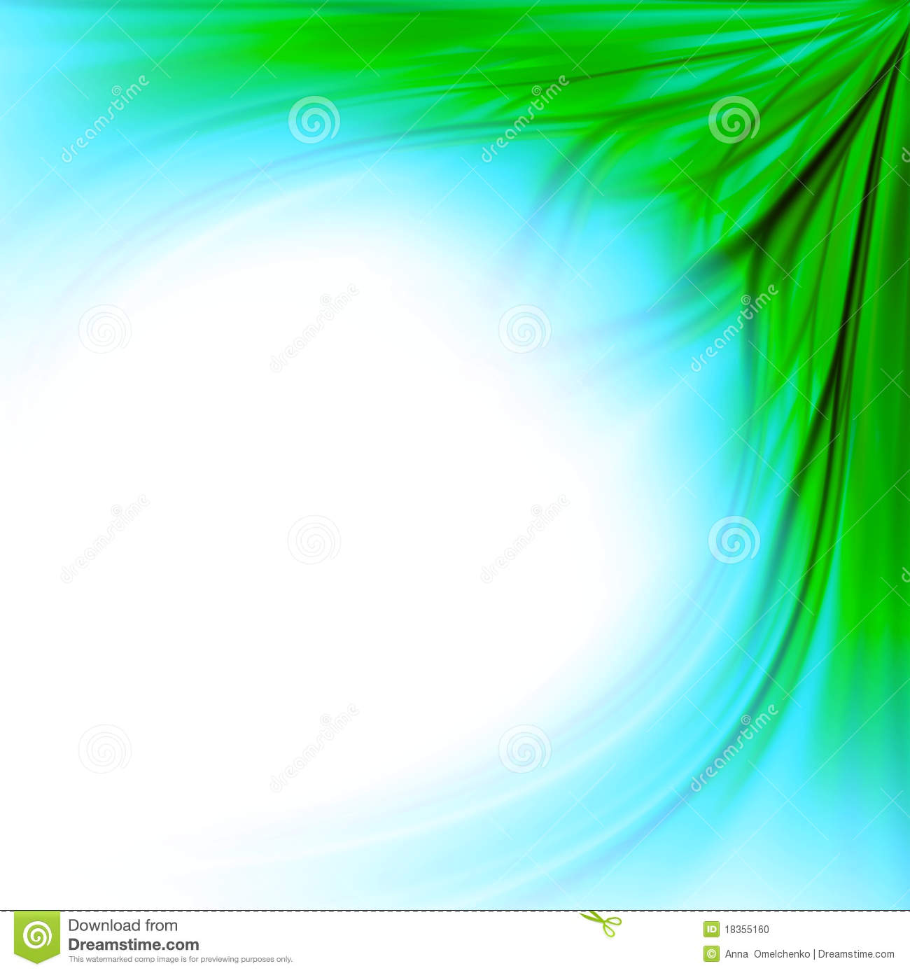 Blue Green Grass Border Background Stock Illustration
