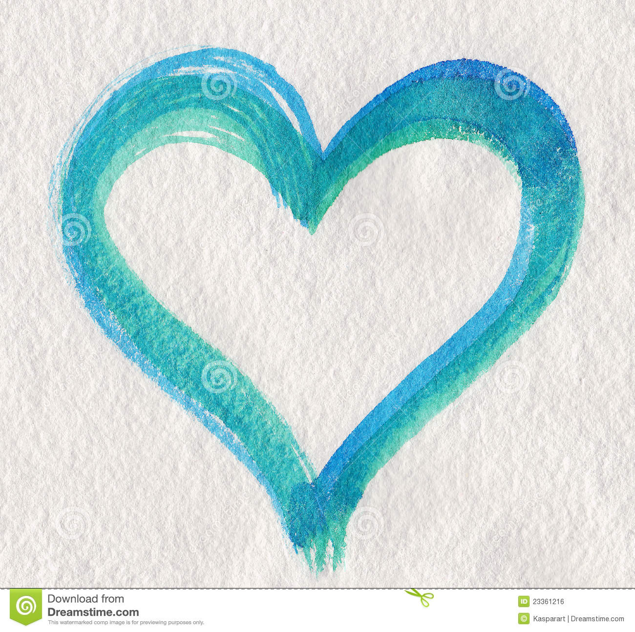 Blue Green Heart Shape Royalty Free Stock Image - Image: 23361216