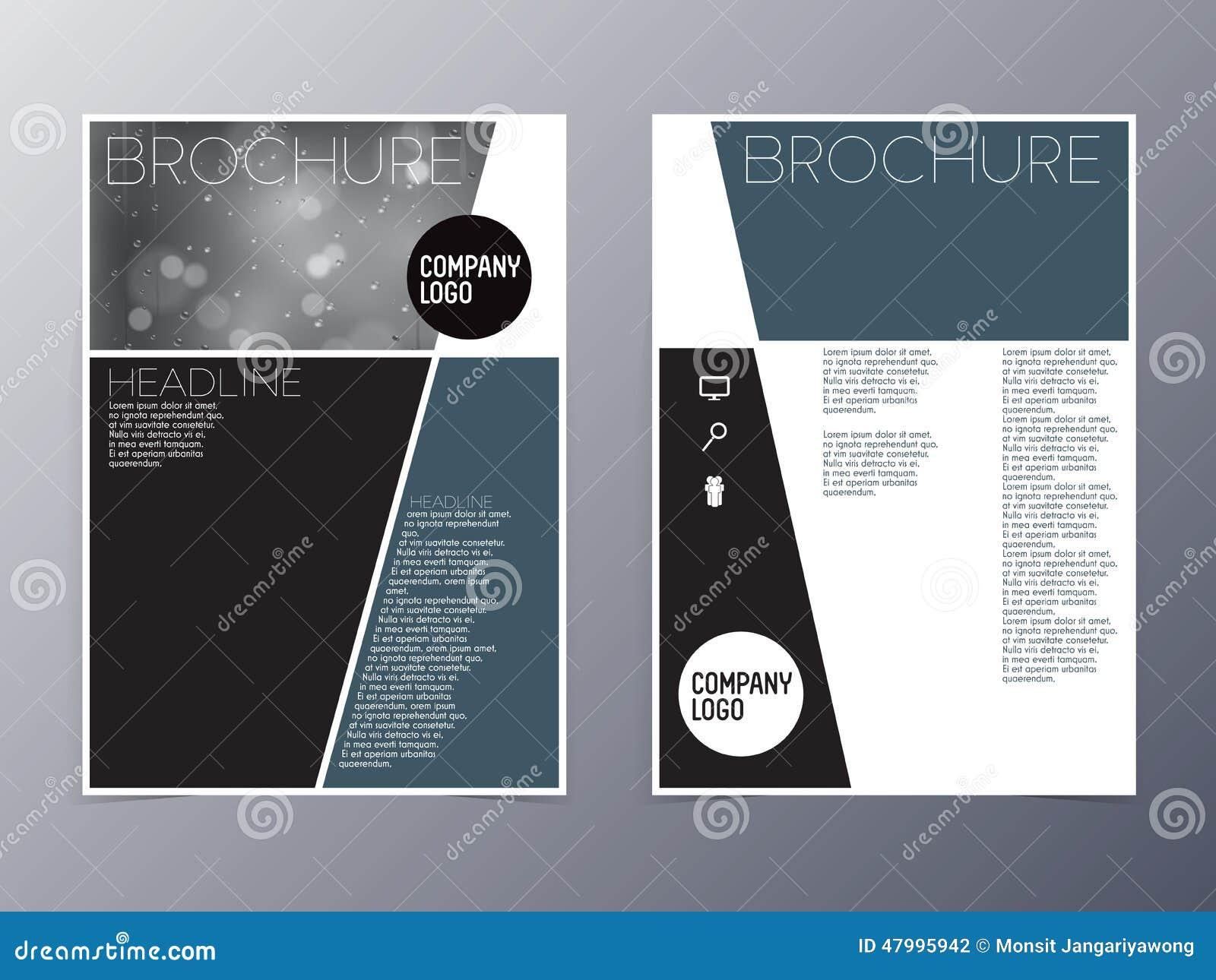 Blue green modern flyer design template vector a4 stock vector image 47995942 for Modern flyers template