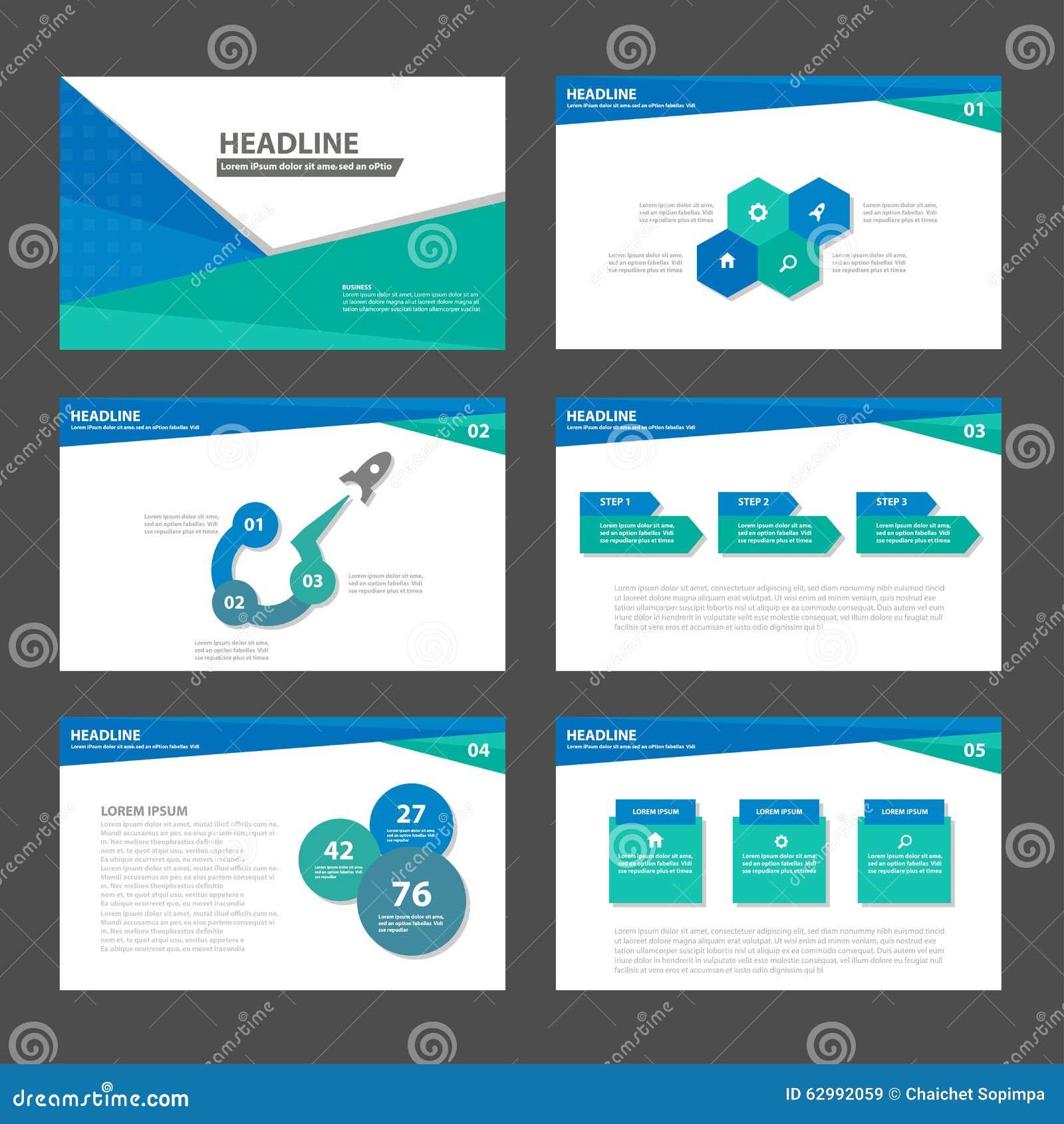 leaflet template design stock vector image  blue green presentation template infographic elements flat design set for brochure flyer leaflet marketing royalty