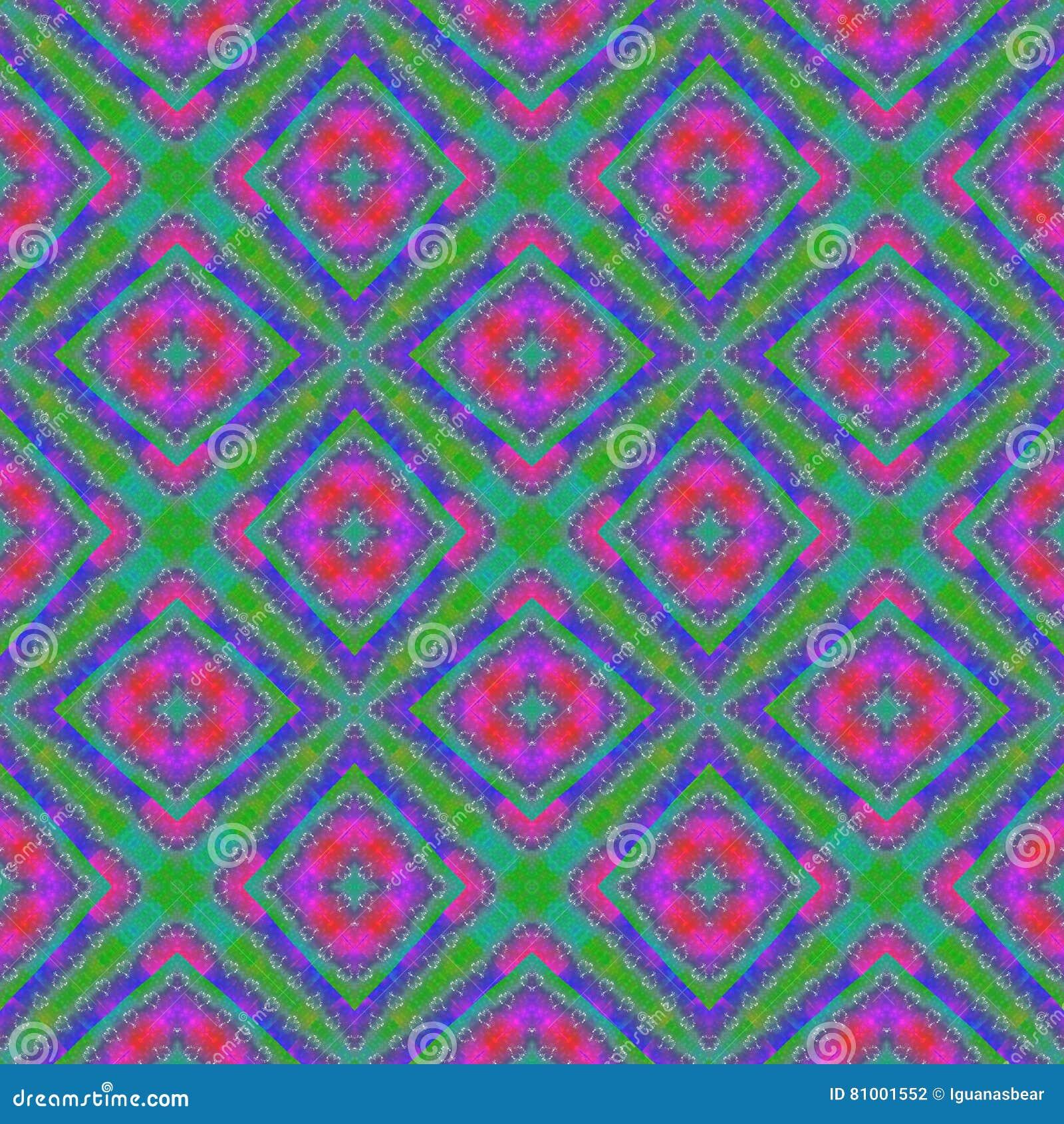Blue green purple regular lacy seamless pattern