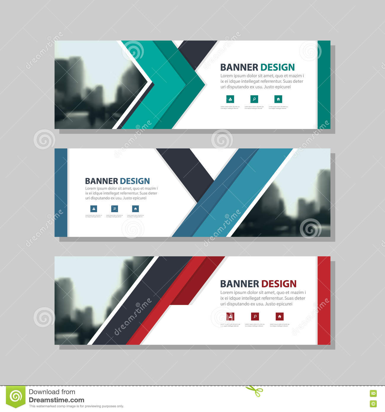 Blue Green Red Triangle Abstract Corporate Business Banner ...