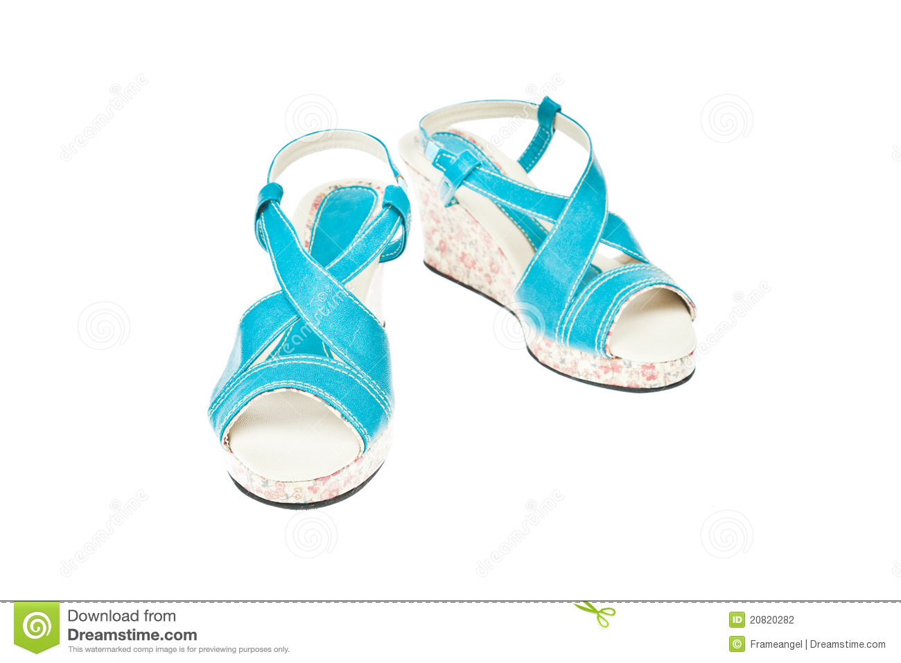 Stock Photography: Blue green shoes, Platform