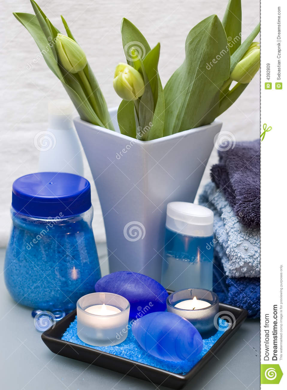 Blue And Green Spa Royalty Free Stock Images Image 4392809