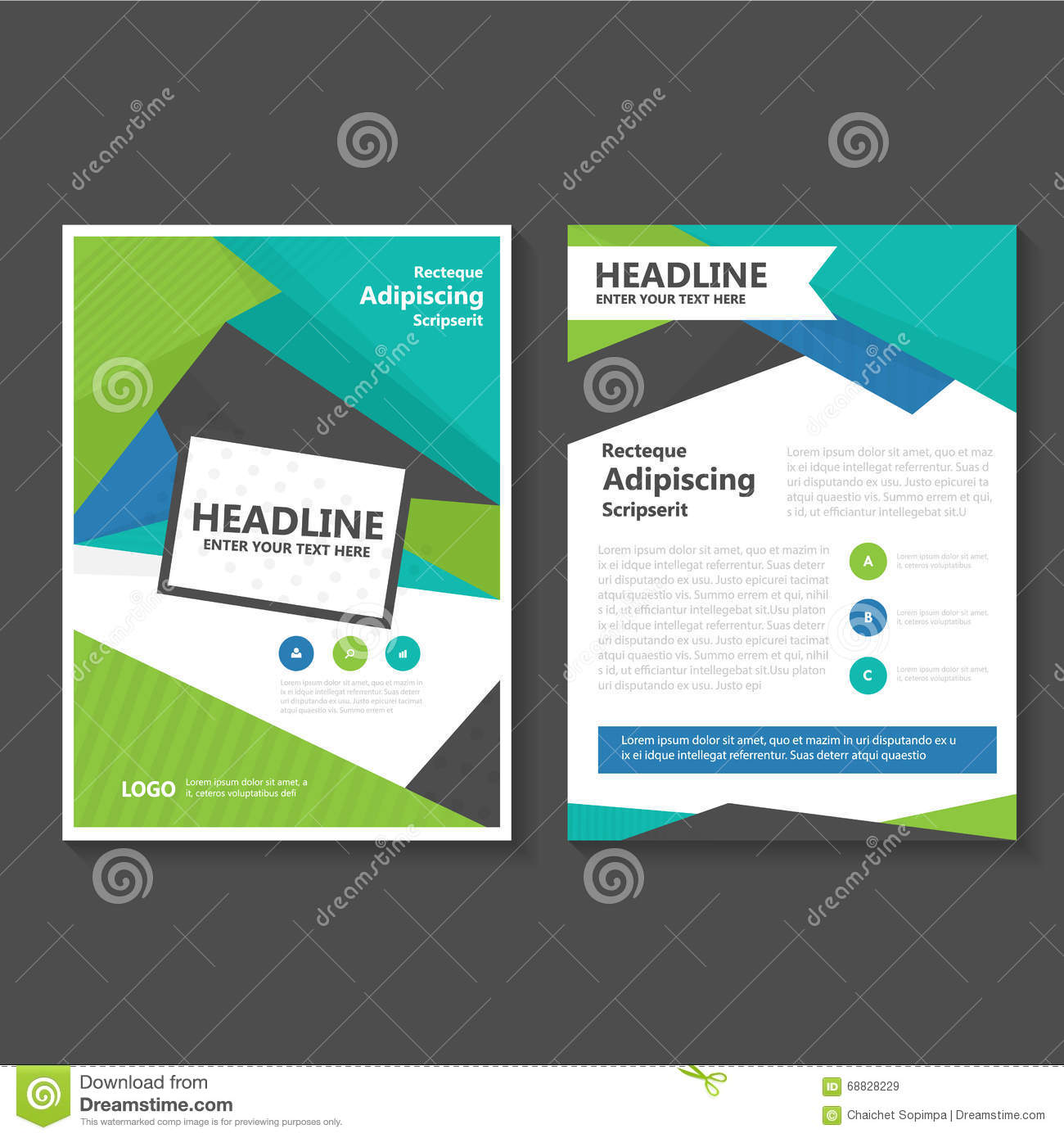 green elegance vector leaflet brochure flyer business proposal blue green vector leaflet brochure flyer template design book cover layout design abstract blue
