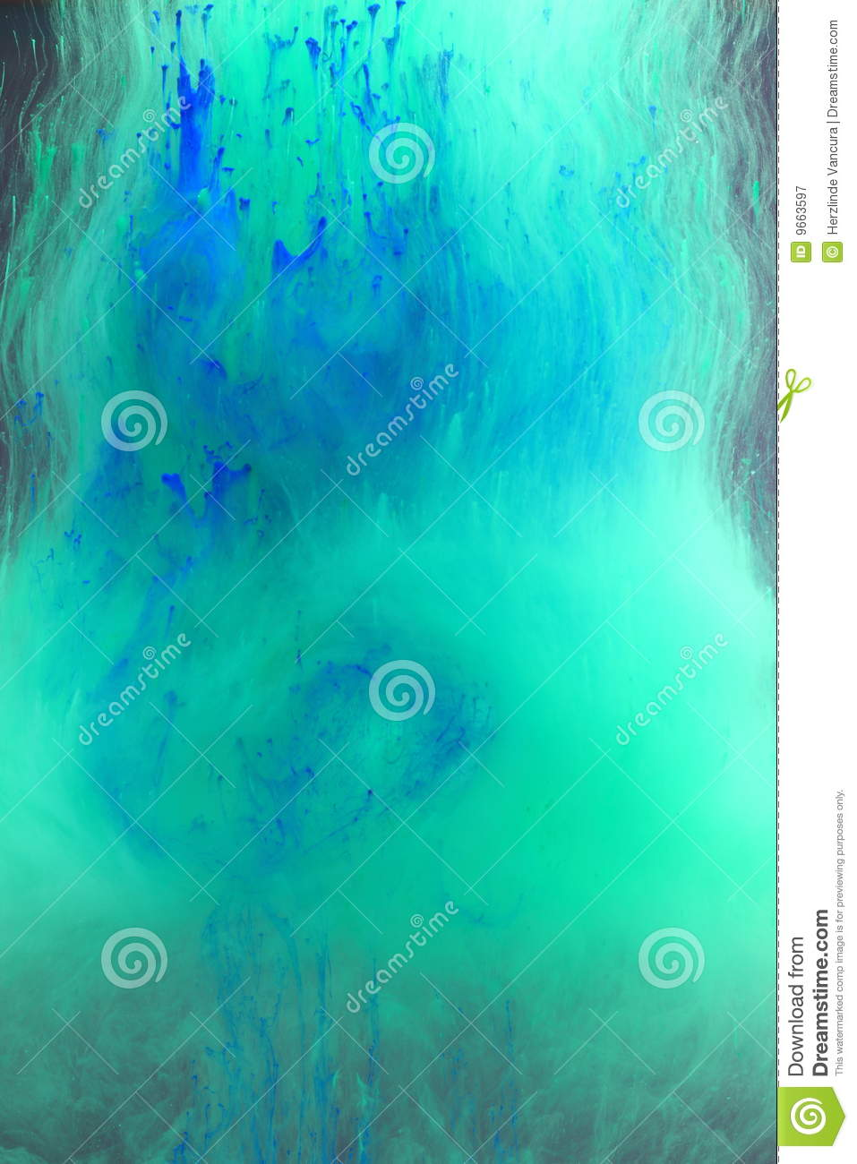 Blue green watery background