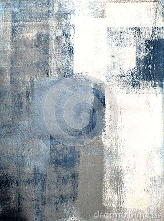 ca047887542 Blue And Grey Abstract Art Painting Stock Image - Image of design ...