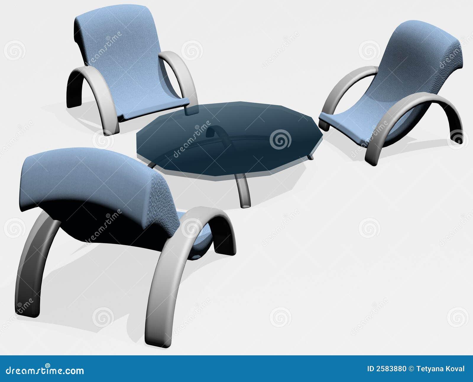 Blue Grey Furniture Stock Photo Image 2583880