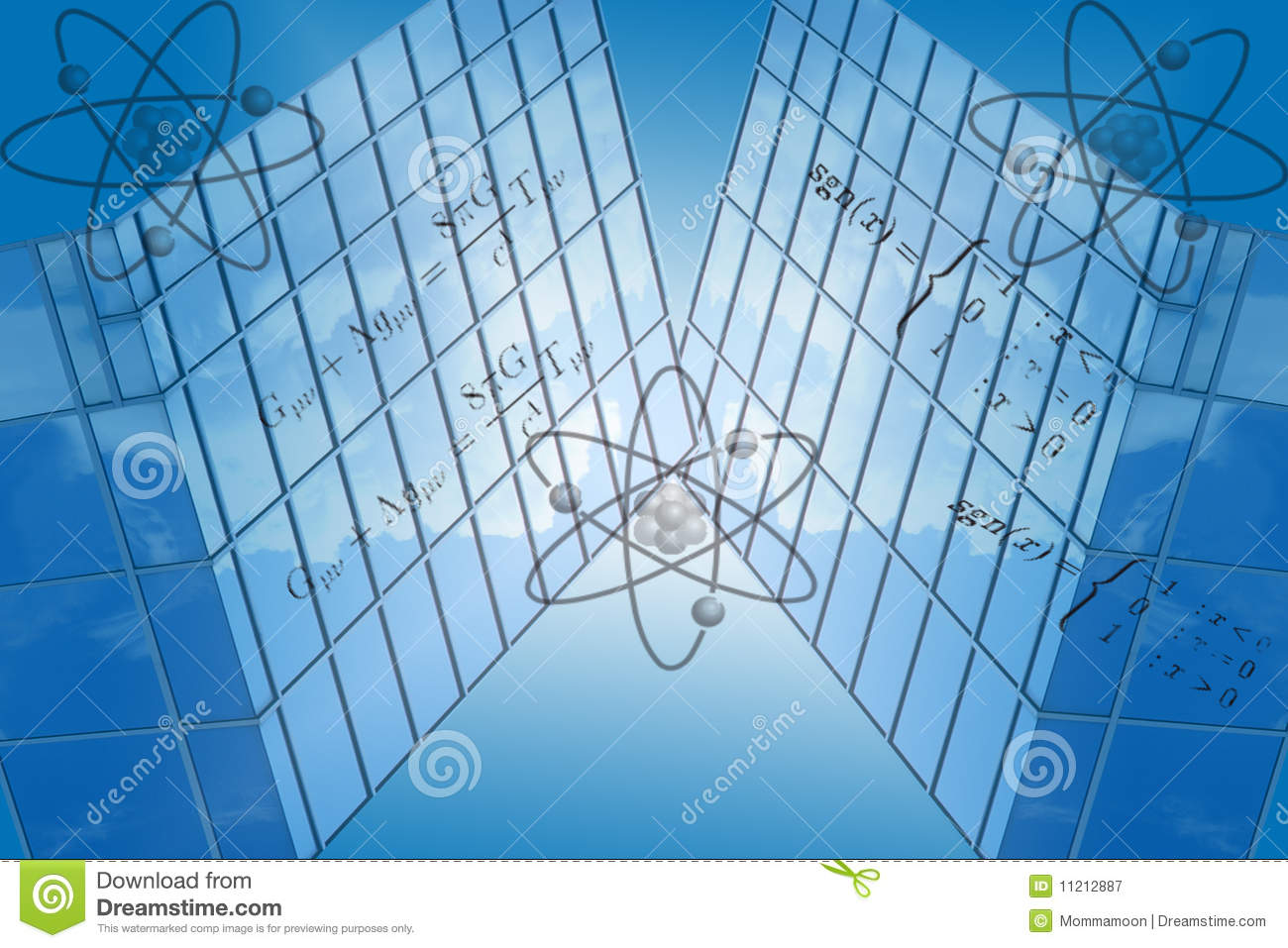 Blue Grid With Math Formulas Stock Illustration - Illustration of ...