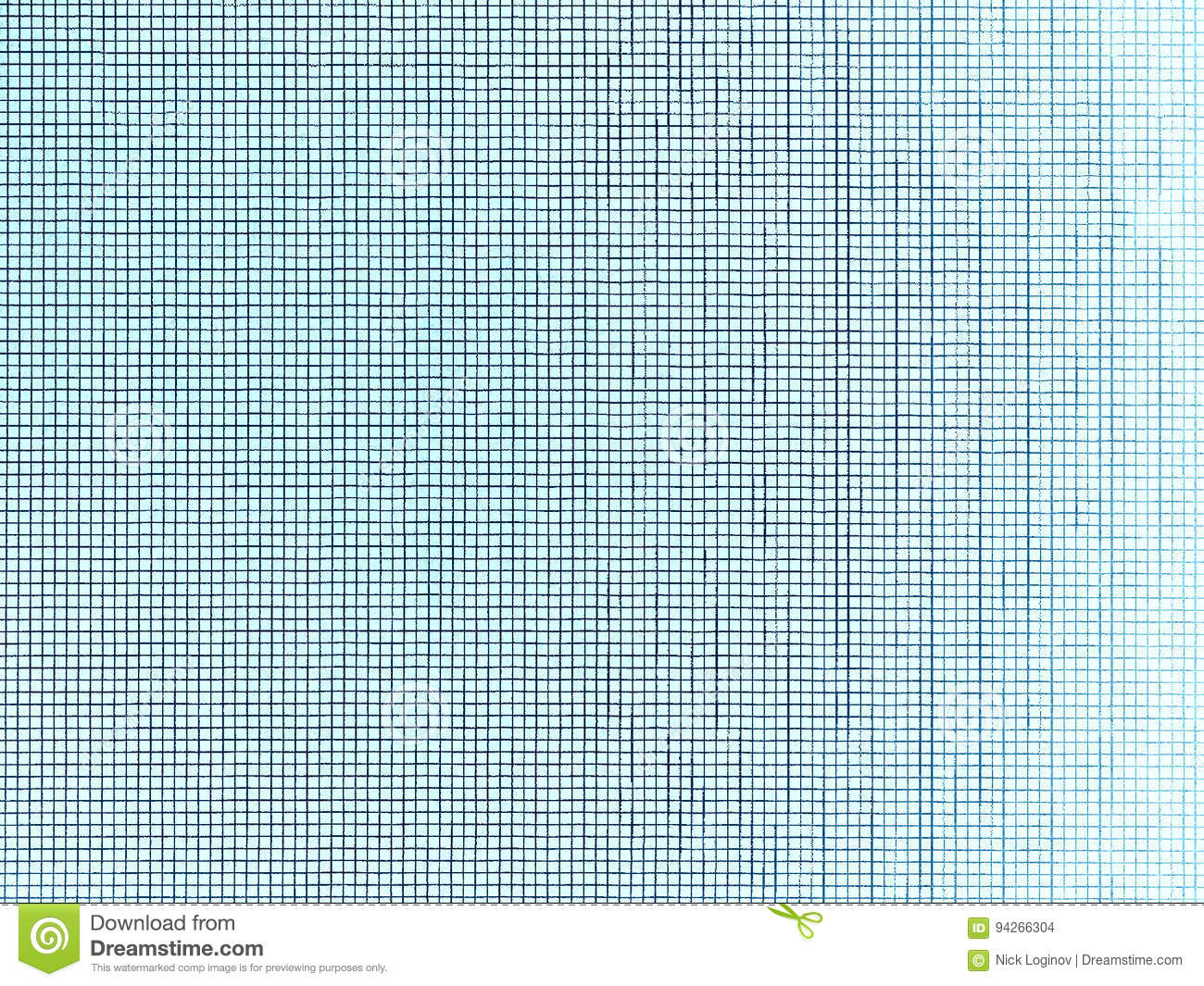 Blue Grid Plain Office Paper Texture Background Stock Illustration