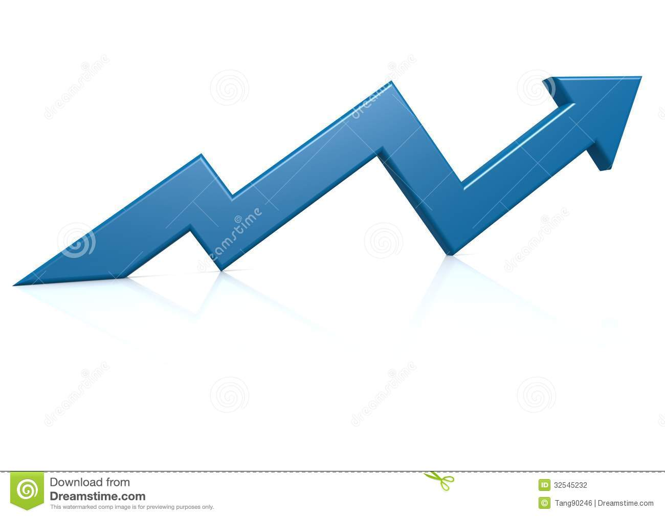 Blue Growth Arrow Stock Photography - Image: 32545232