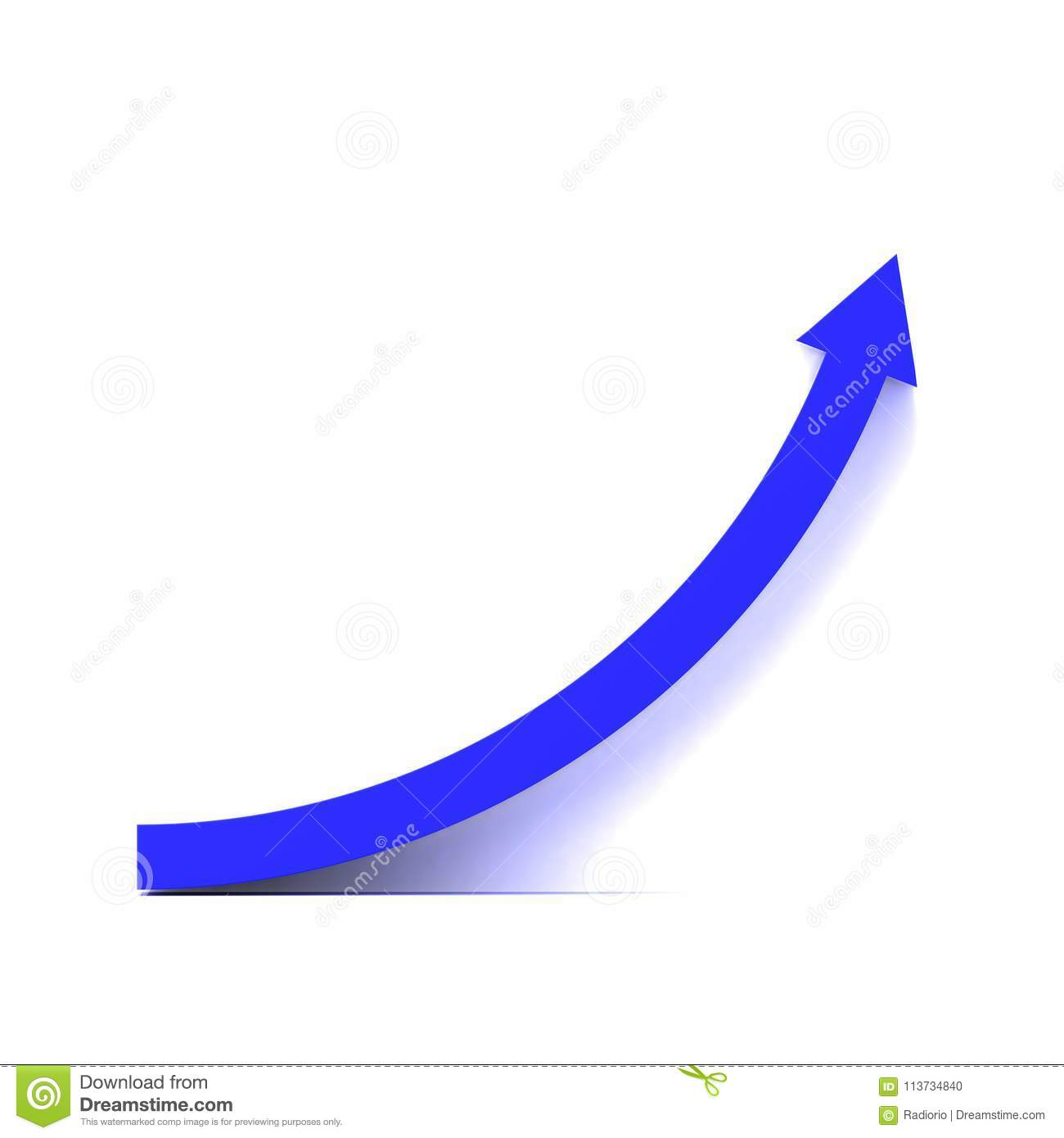Blue growth curve stock illustration. Illustration of right - 113734840