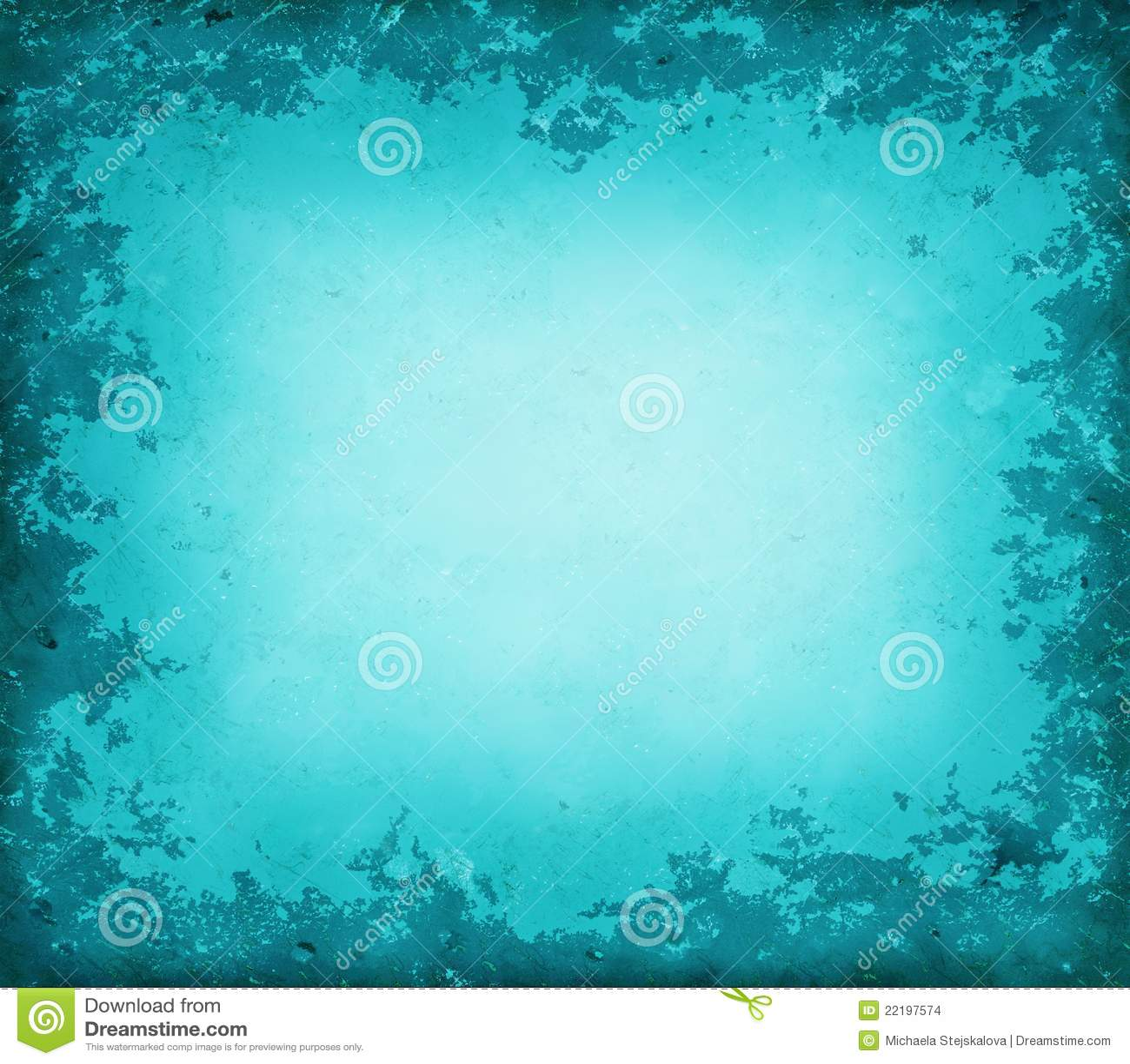Blue Grunge Border Stock Images - Image: 22197574