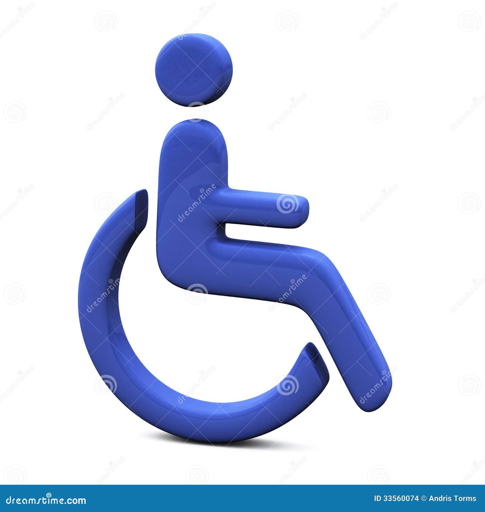 Blue Handicap Sign 3d Stock Images Image 33560074
