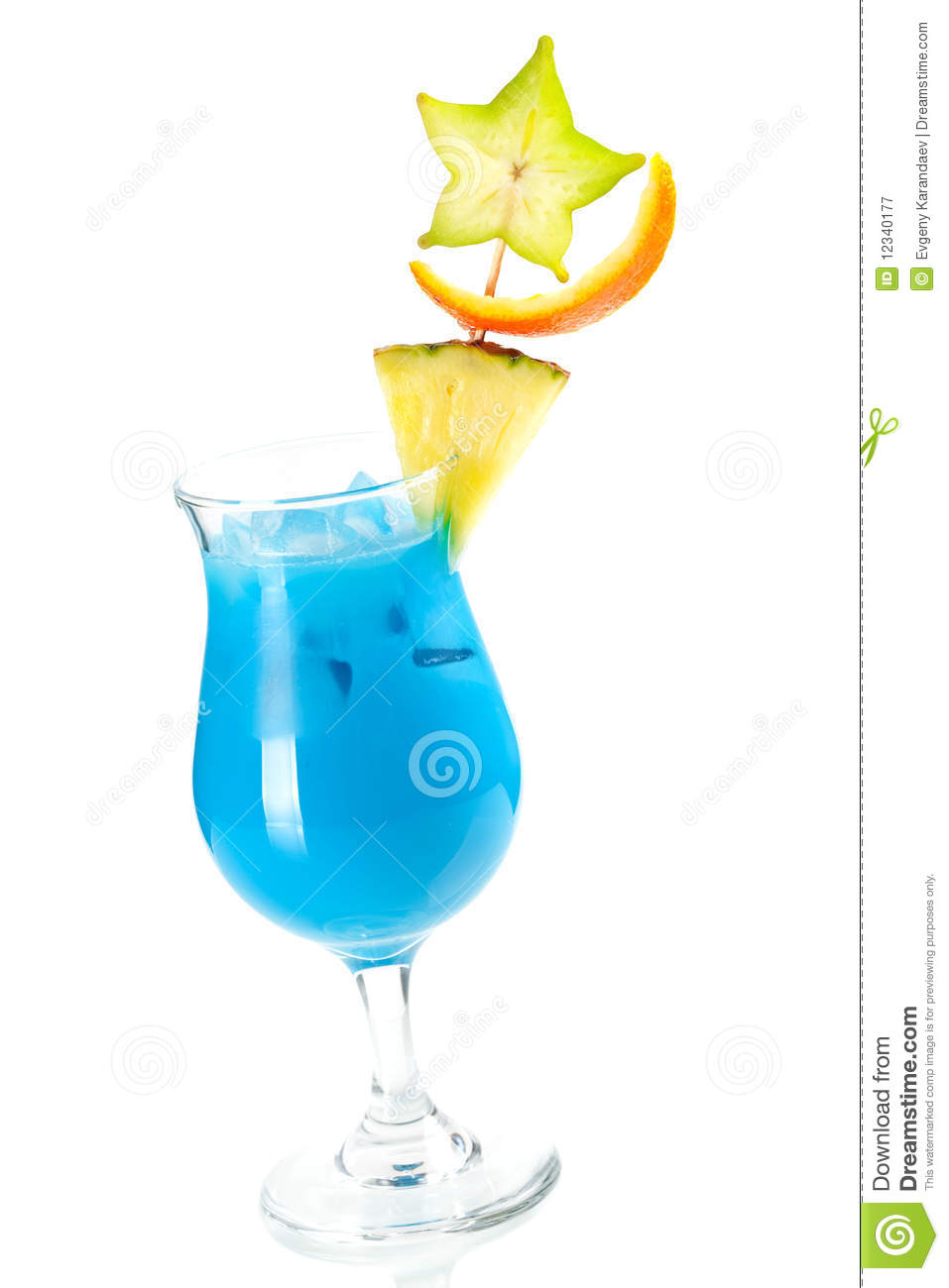 Blue Hawaii Tropical Cocktail Royalty Free Stock